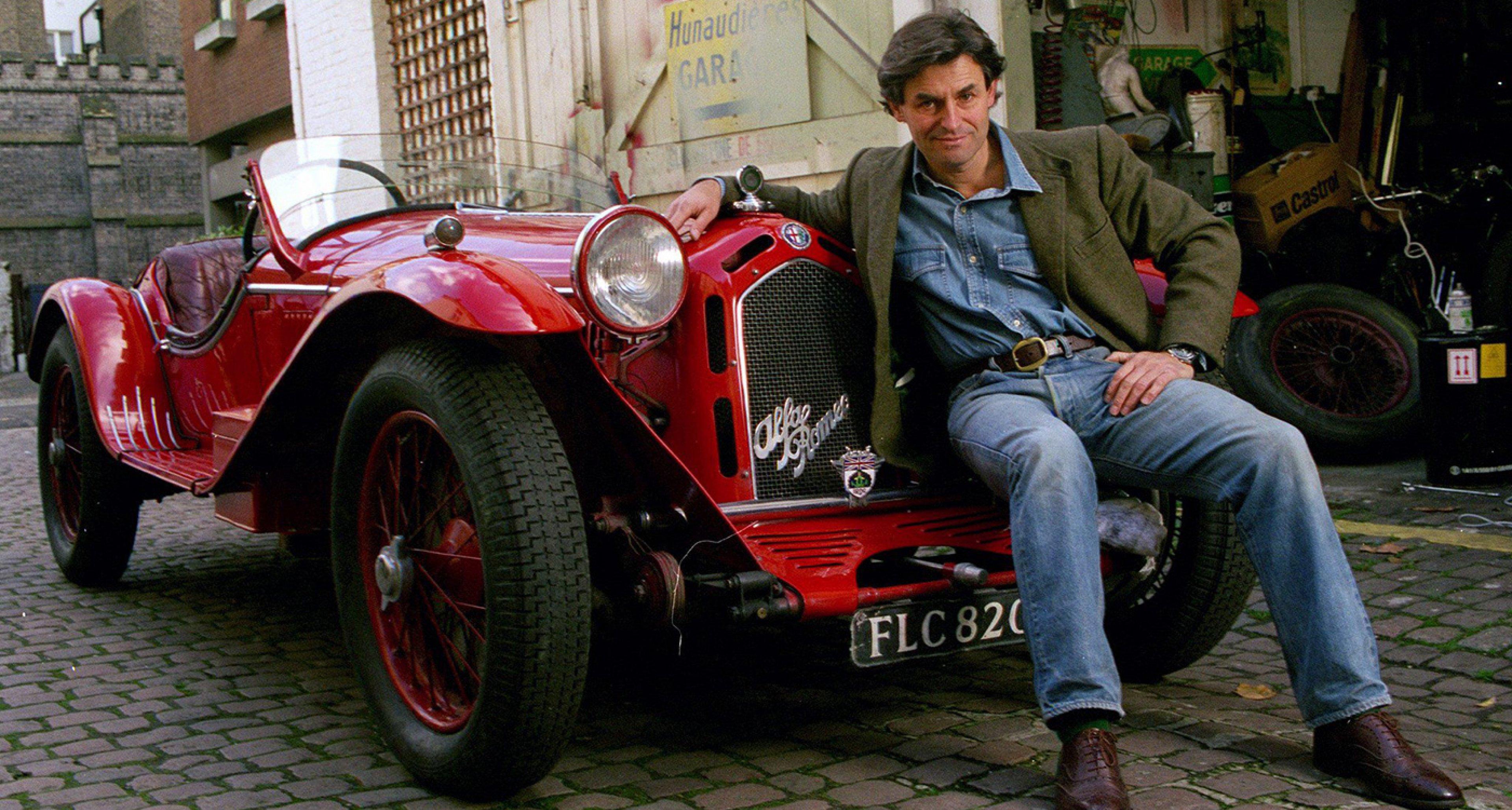 De Cadenet and his beloved 'FLC', the Targa Florio-winning Alfa Romeo 8C
