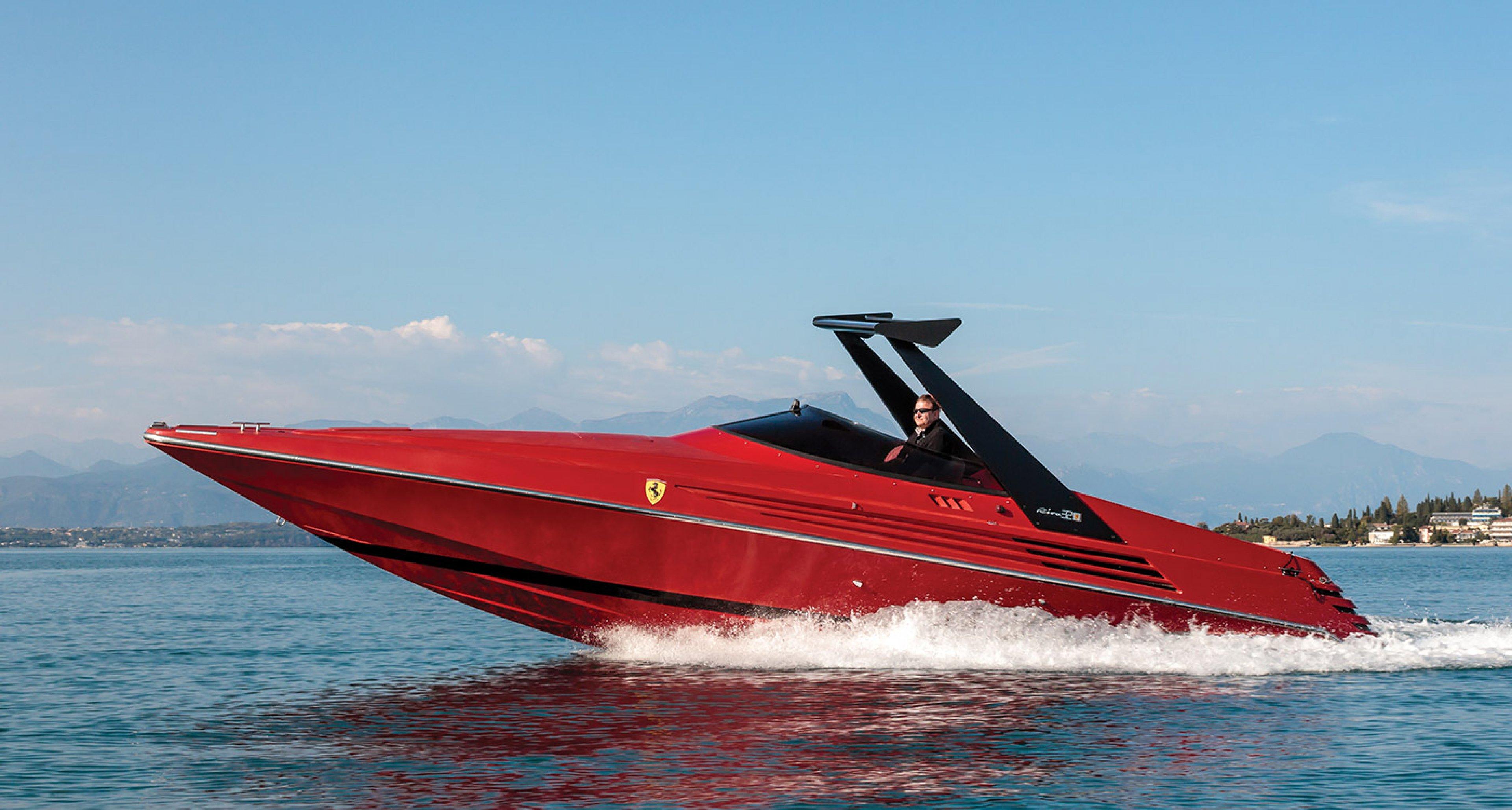 This Riva Ferrari speedboat is a prancing seahorse