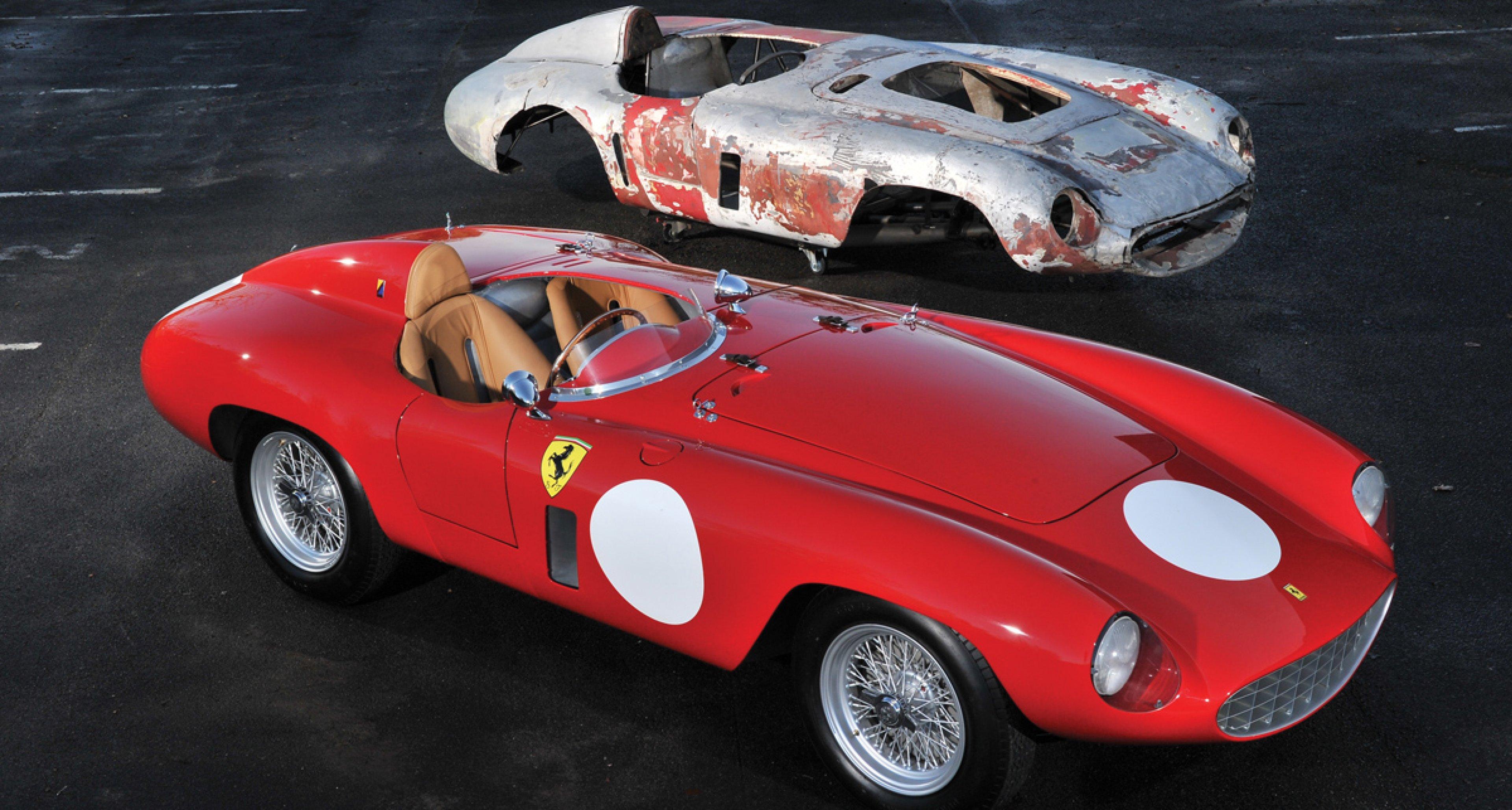 Lot 27: 1955 Ferrari 750 Monza Spider by Scaglietti € 1.800.000 - 2.100.000