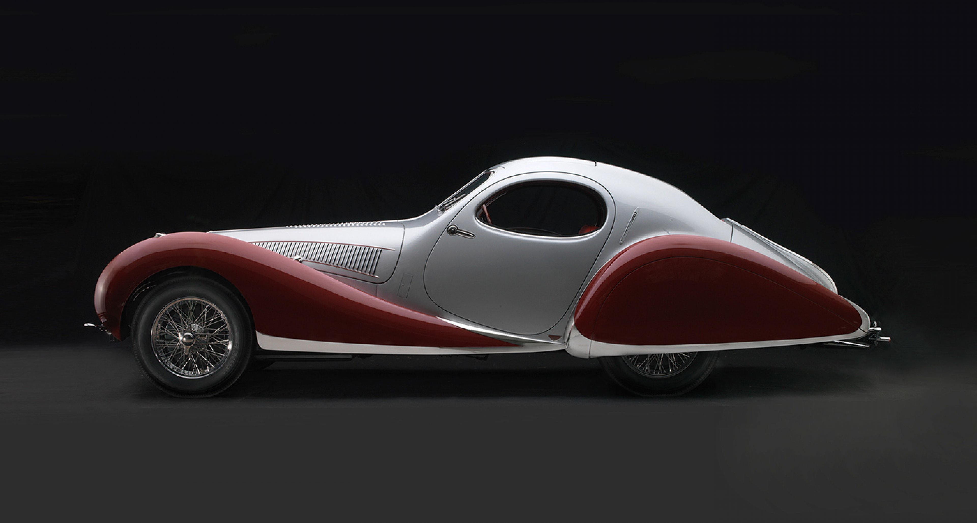 Talbot-Lago T-150C-SS Teardrop Coupe, 1938, Collection of J. W. Marriott, Jr.; Photo © 2016 Peter Harholdt