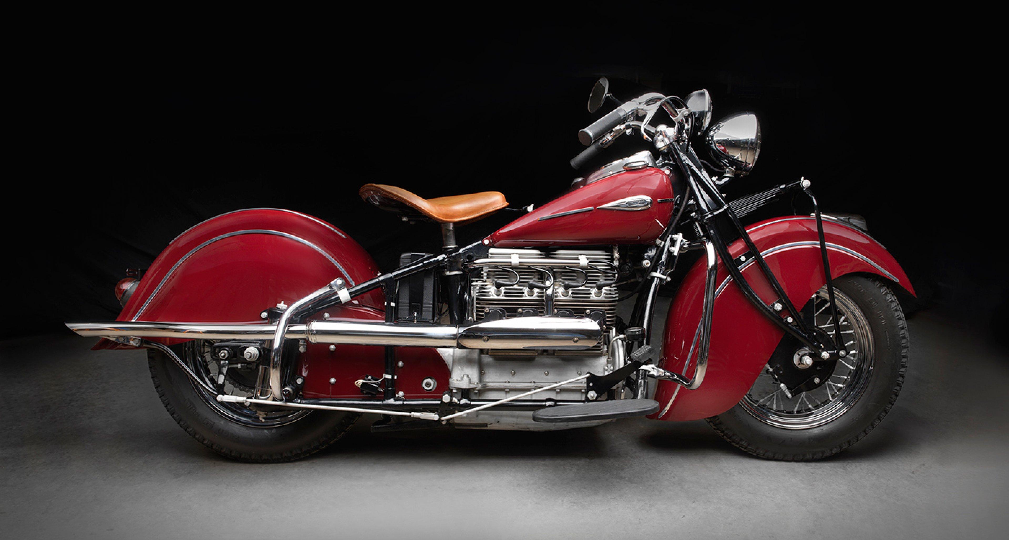 Indian 441 Series 4-Cylinder Motorcycle, 1941, Collection of Duane Van Fleet; Photo © 2016 Peter Harholdt