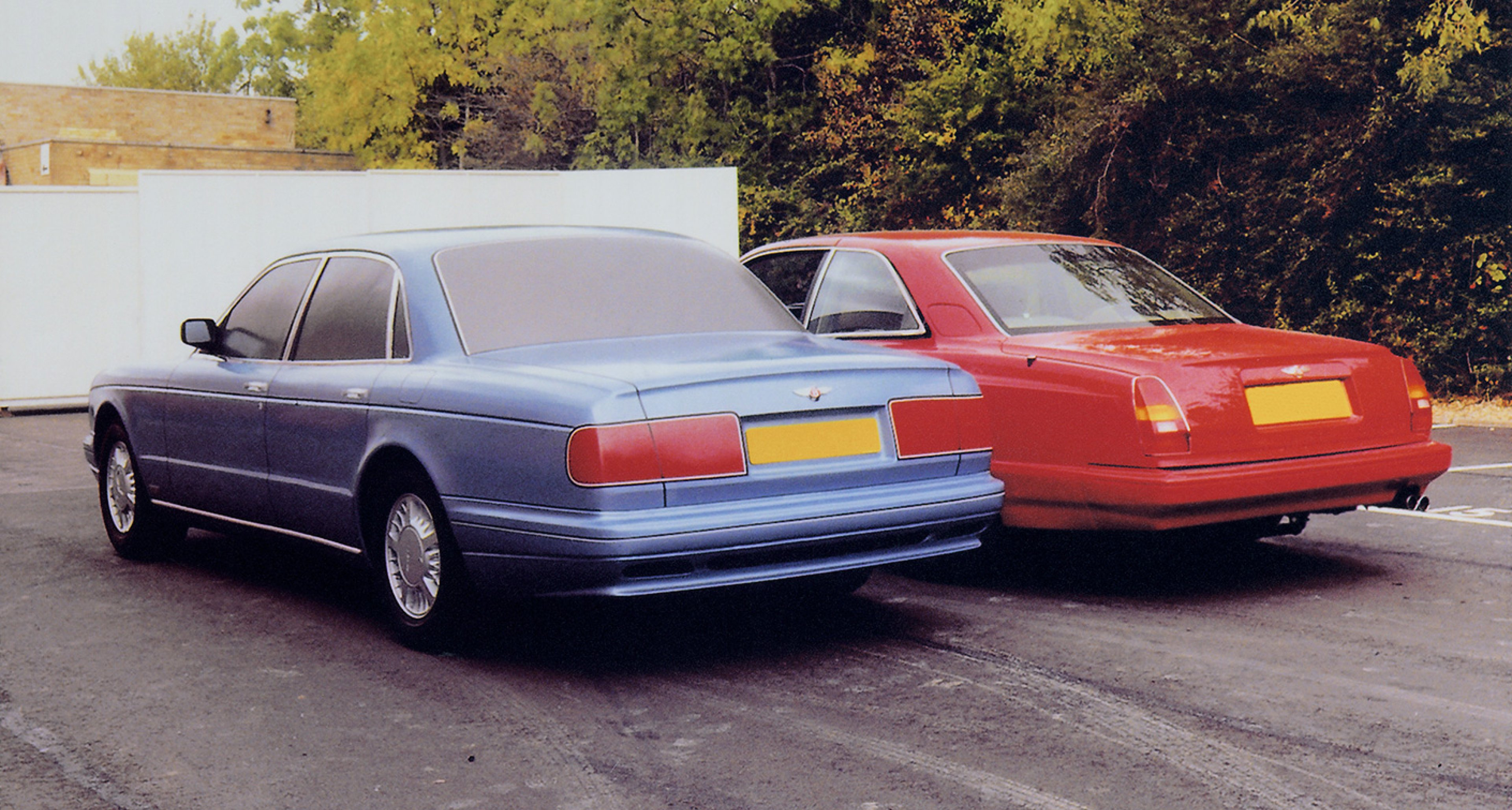 1990: A new Bentley saloon proposal is evaluated alongside a Continental R