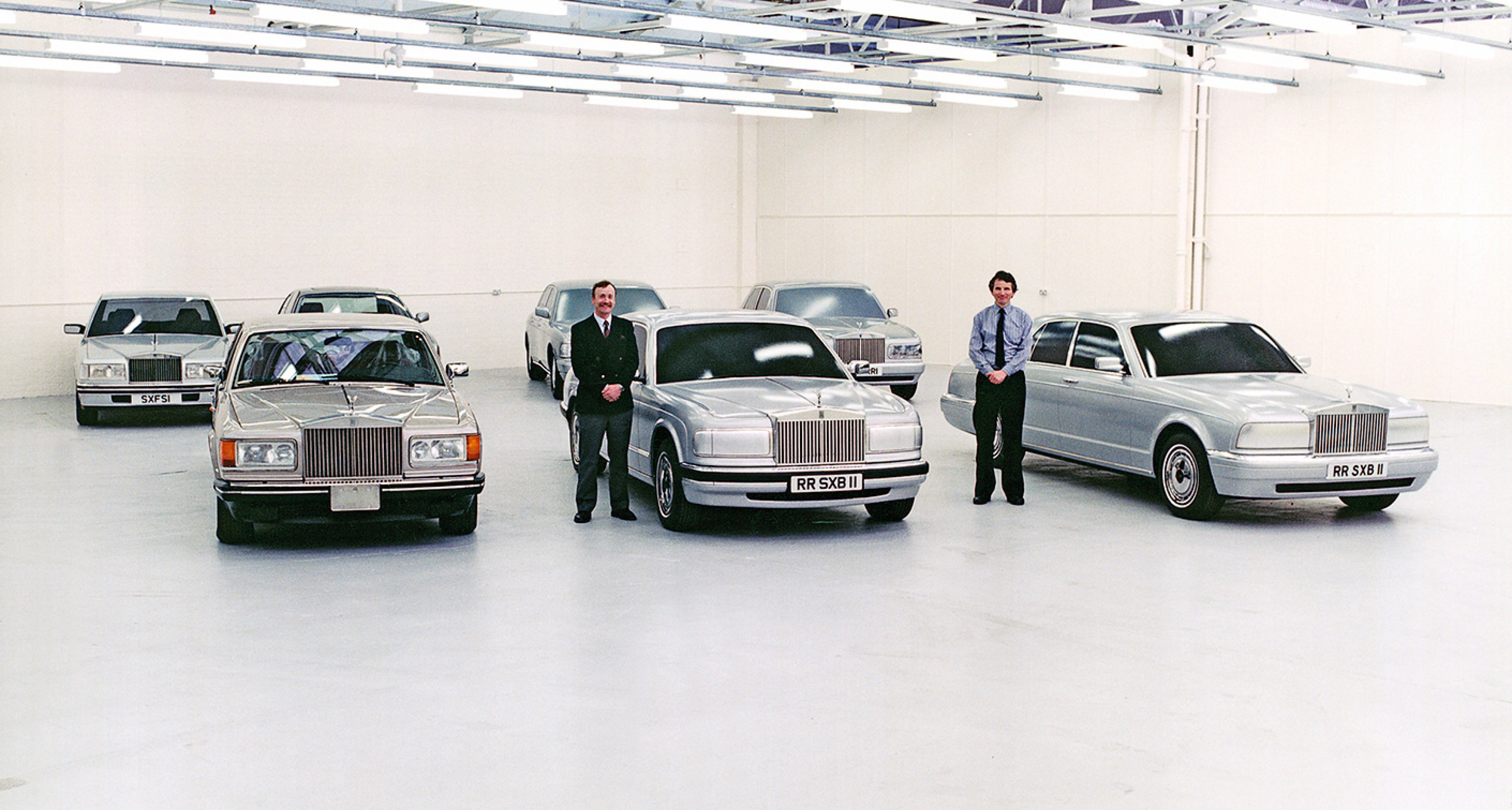 June 1991: Crewe's Styling Viewing Area shows proposals of how to diversify the marques brand images while using the same bodyshell