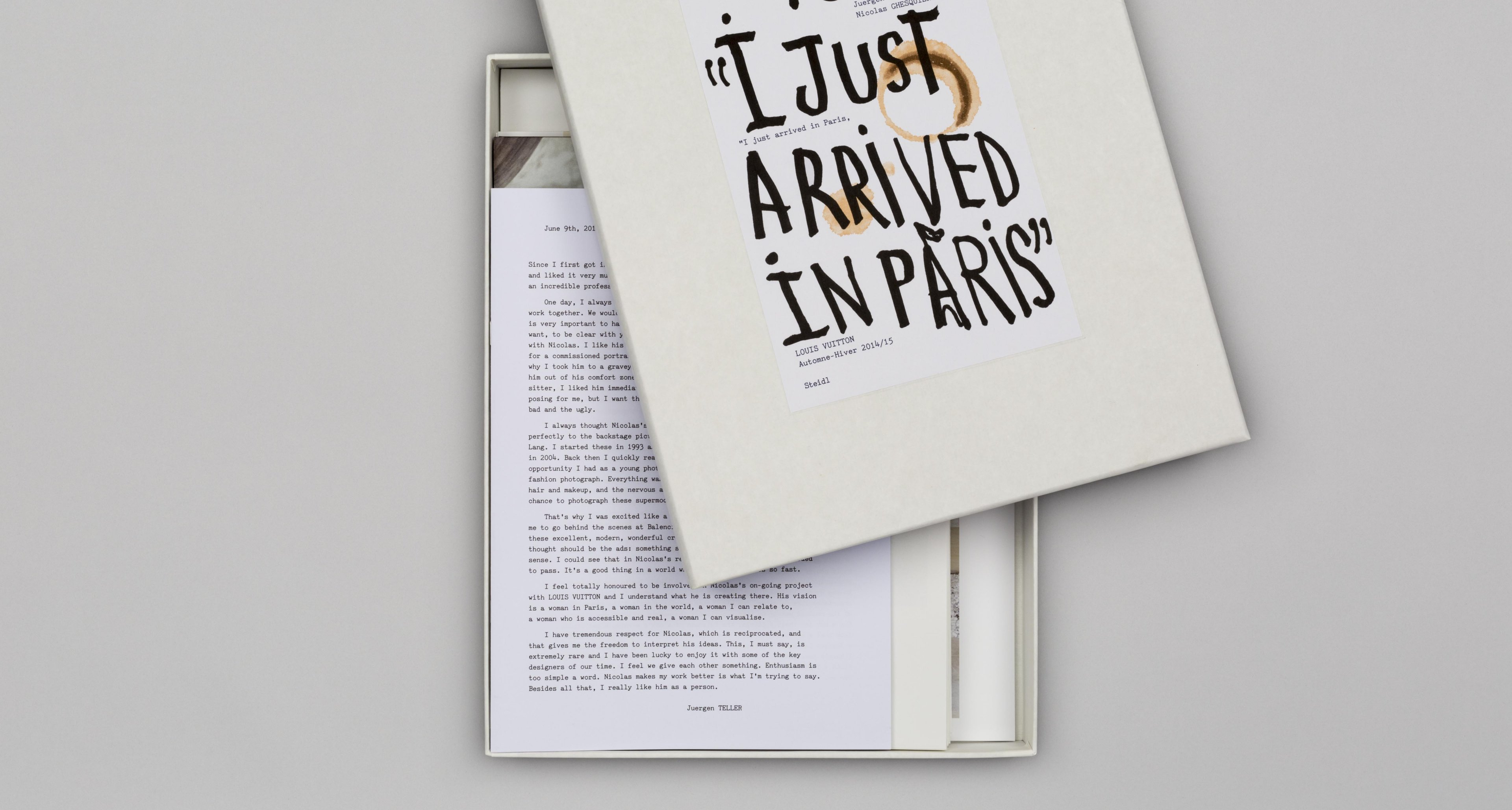 Juergen Teller/Nicolas Ghesquière: I Just Arrived in Paris Copyright: (c) 2014 Juergen Teller for the images, book published  by Steidl 2014