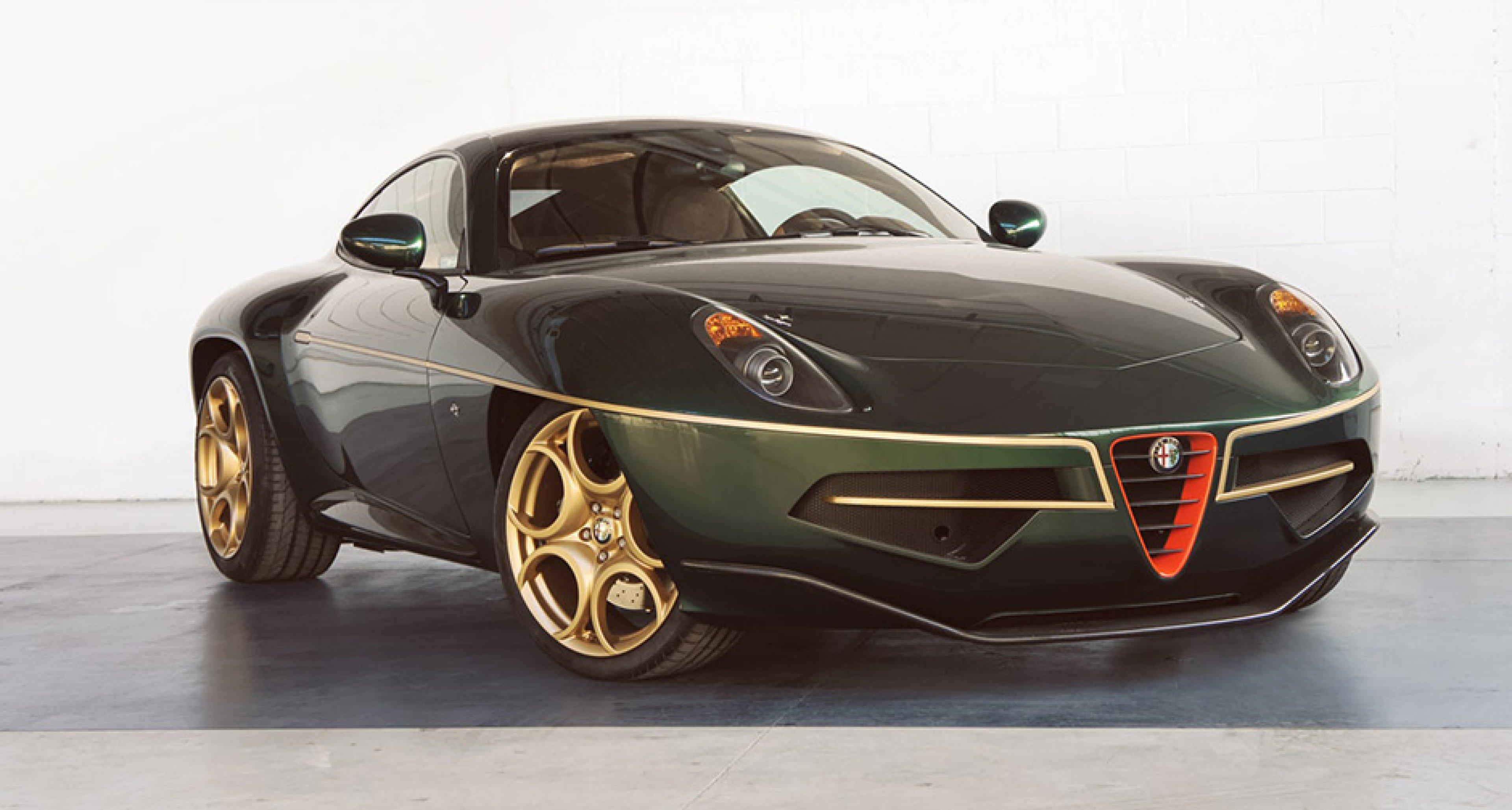 Alfa Romeo Disco Volante For Sale >> Touring Superleggera Disco Volante Glistens In Green And