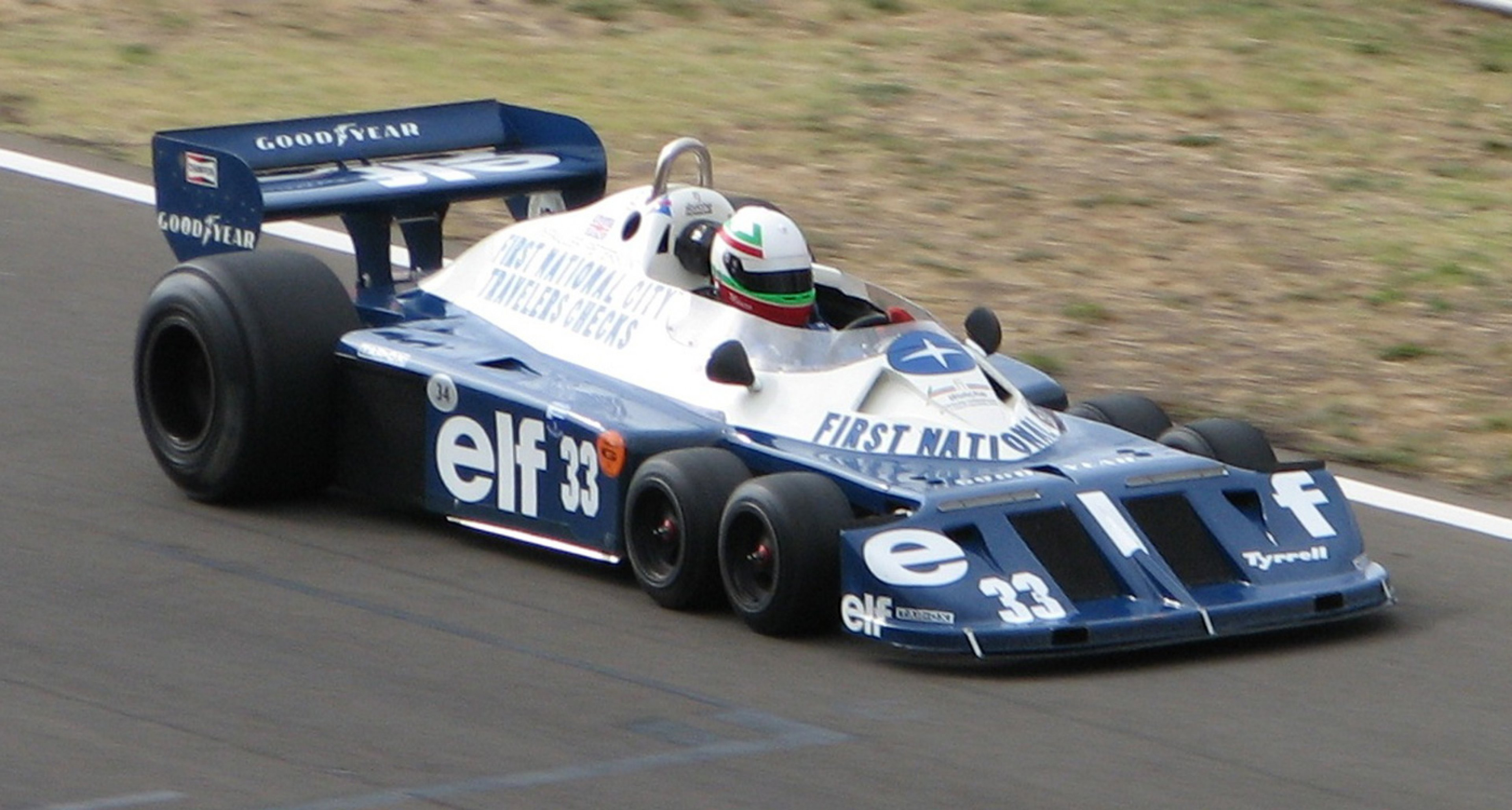 Tyrrell's famous P34 Formula 1 car of 1976