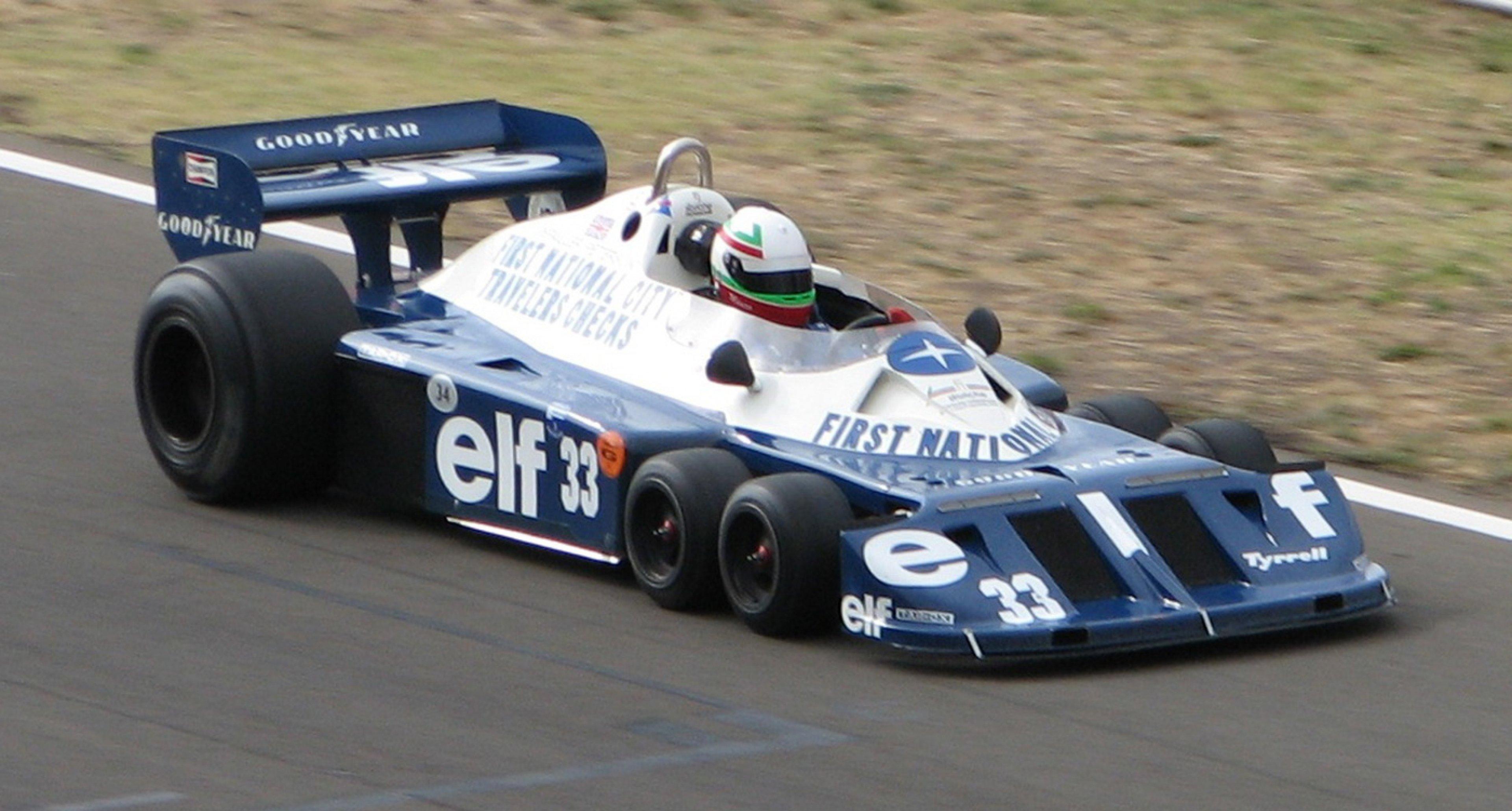 Tyrrell's famous P34 Formula 1 car of 1976