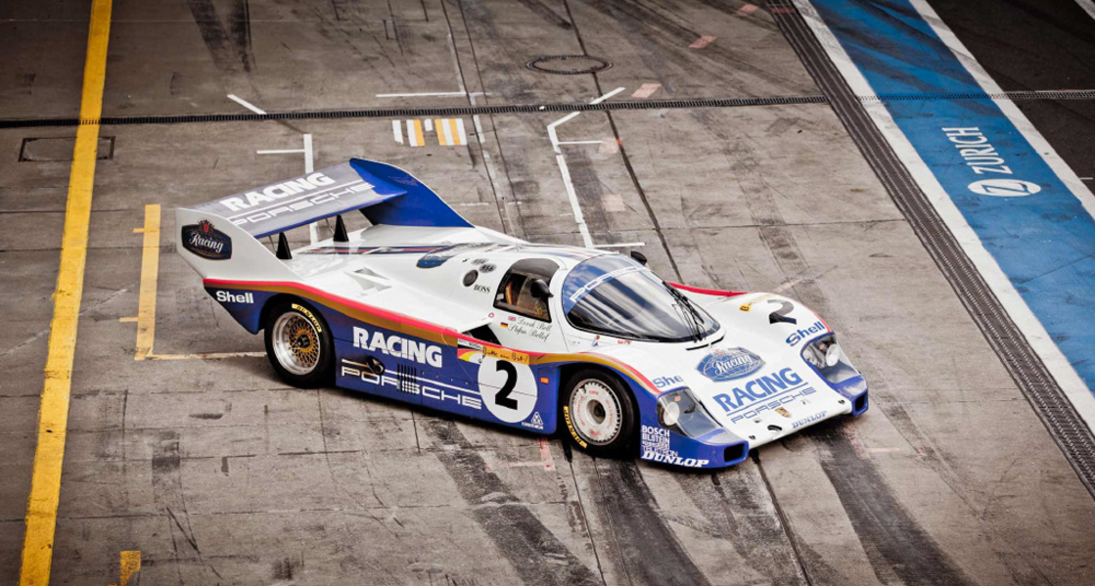 Nürburgring record-hunters at dawn: Porsche 956 and 918
