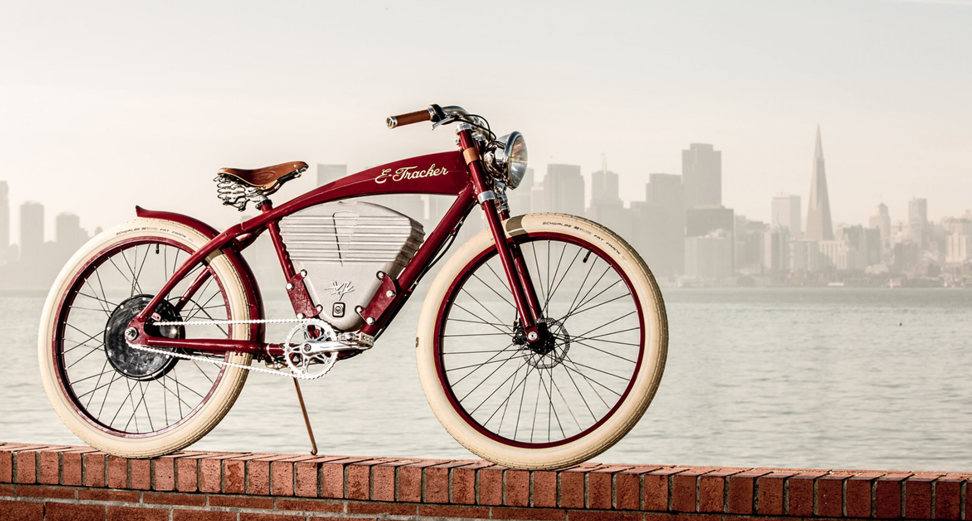 Vintage electric produces board track bicycles with a for Motorized bicycle california law