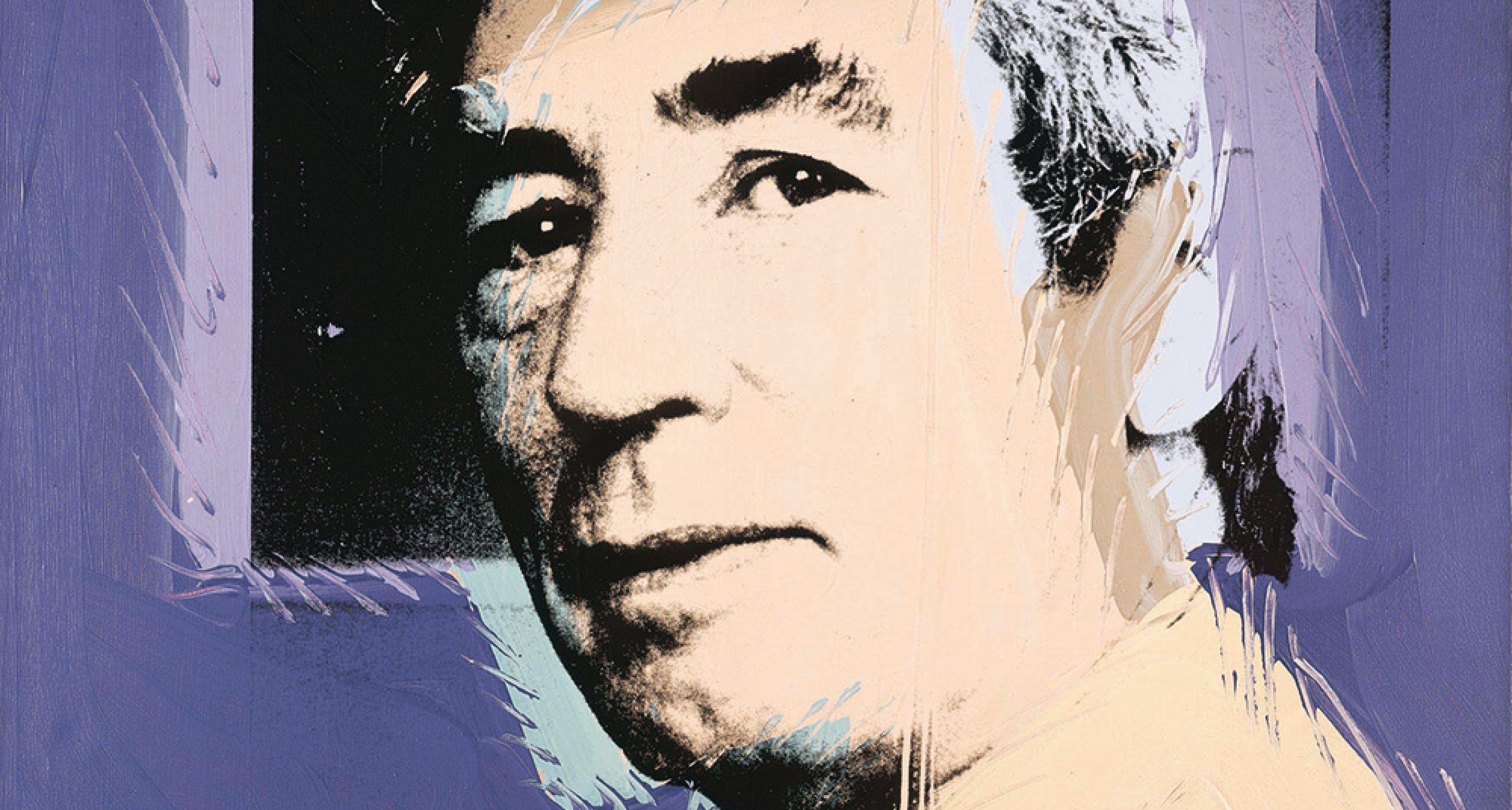 "Andy Warhol ""Portrait d'Hergé"" 1977 © The Andy Warhol Foundation for the Visual Arts, Inc. / ADAGP, Paris 2016 - © Jean–Pol Stercq / ADAGP, Paris 2016"