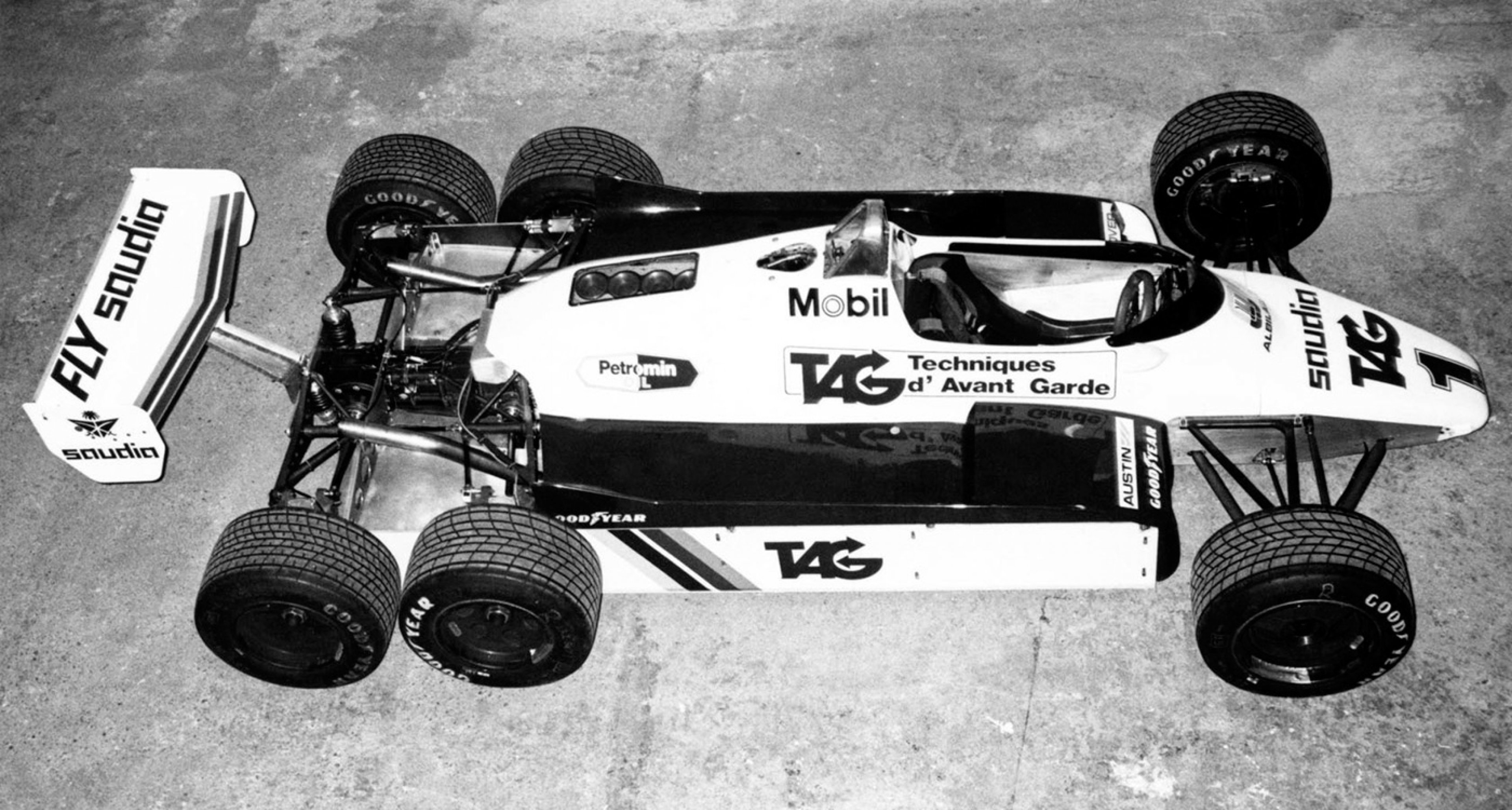 Williams' experimental answer to the Tyrrell P34: The FW08B of 1982