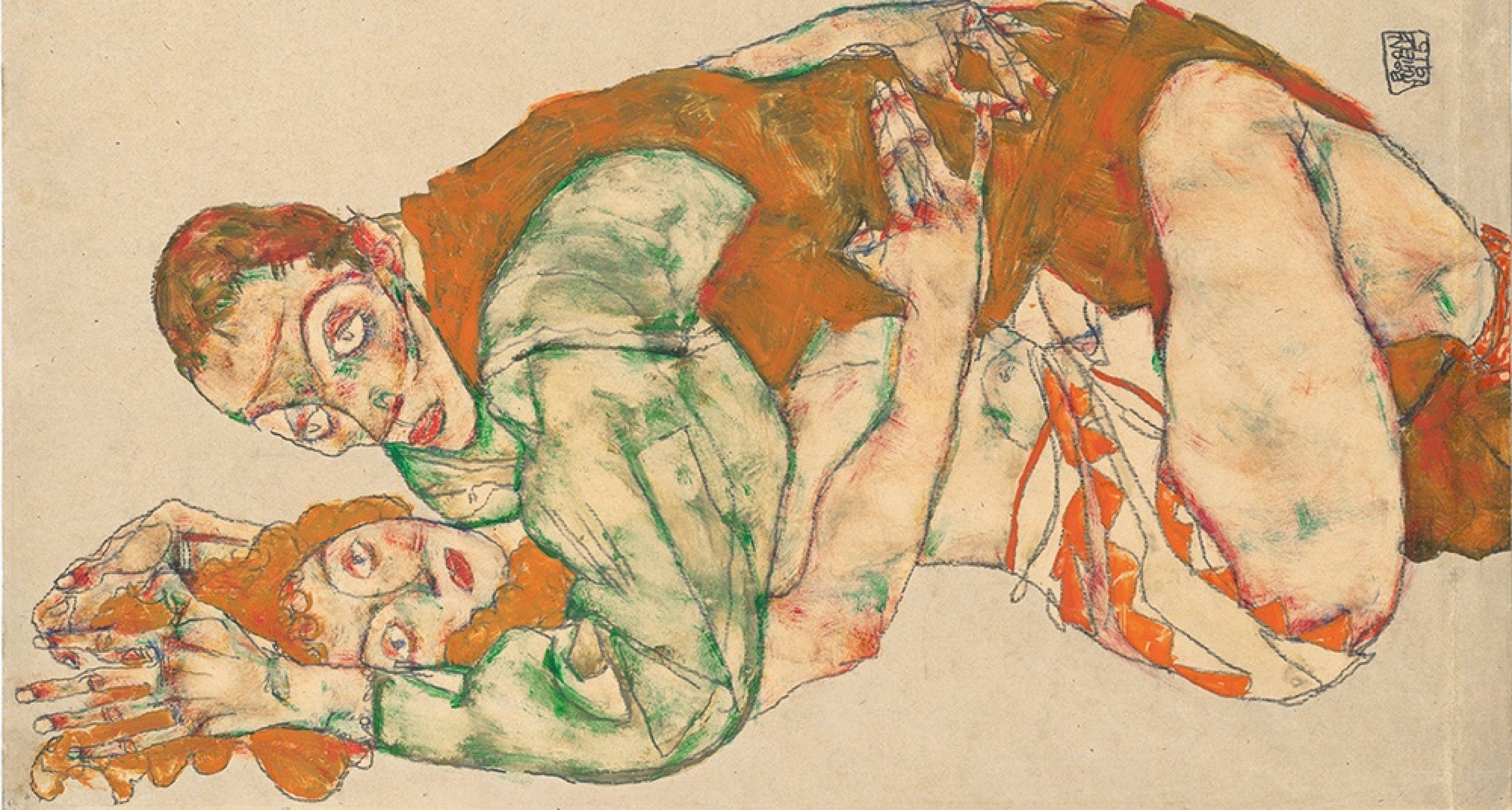 © Leopold Museum, Vienna  Liebesakt, 1915 Wien, Leopold Museum