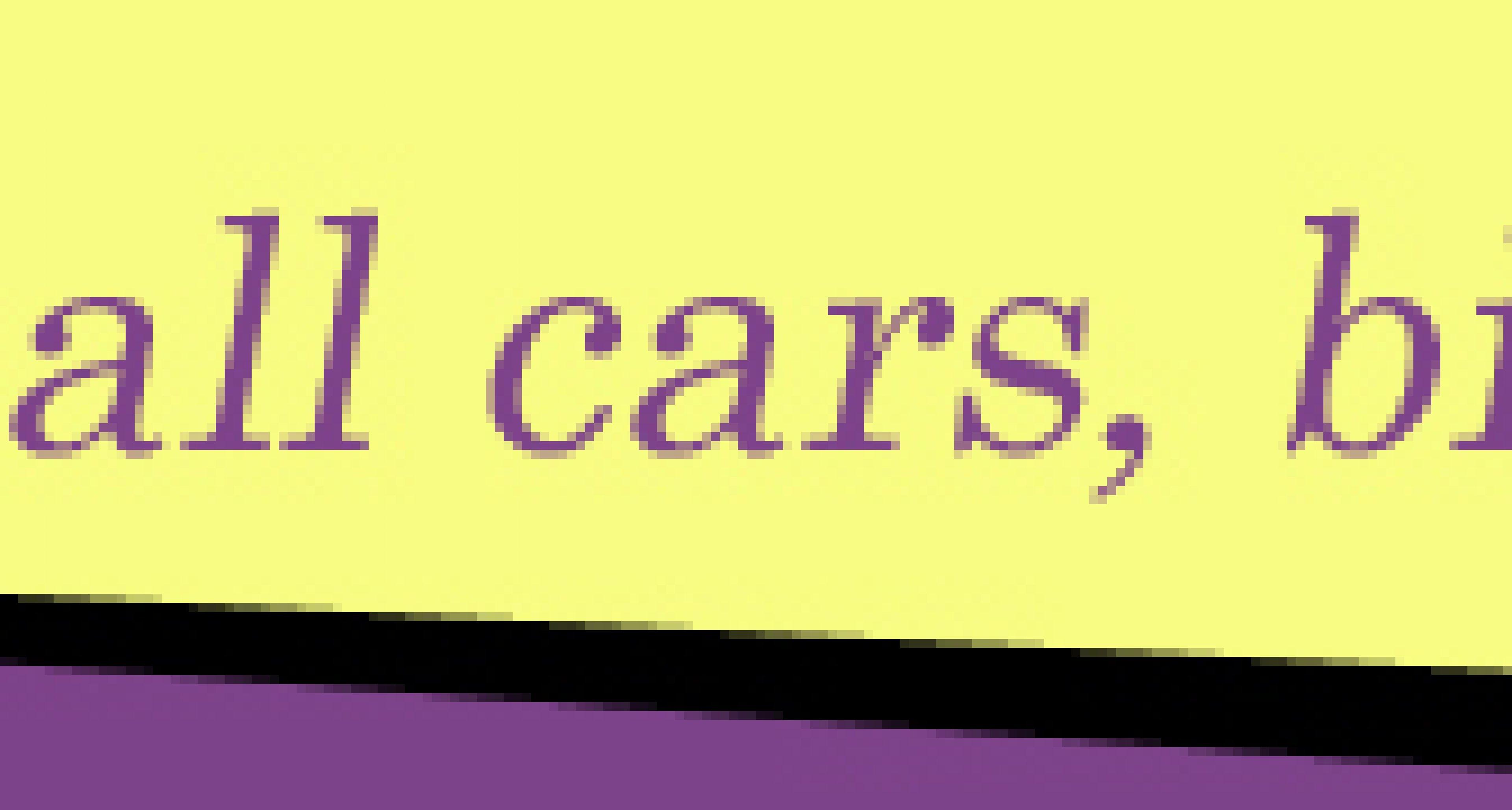 Small Cars, Big Bang