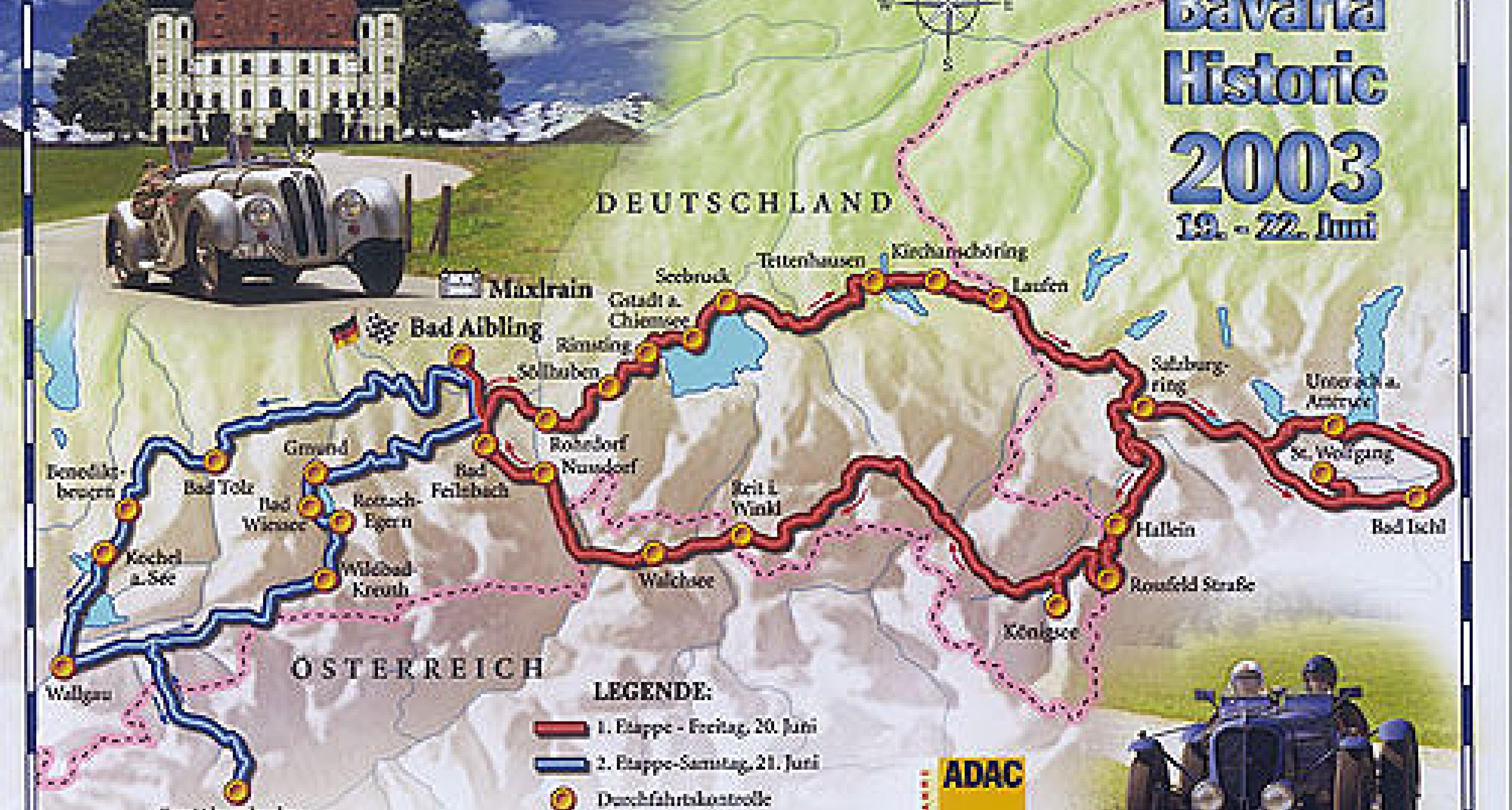 Bavaria Historic – die Bayerische Mille Miglia 2003