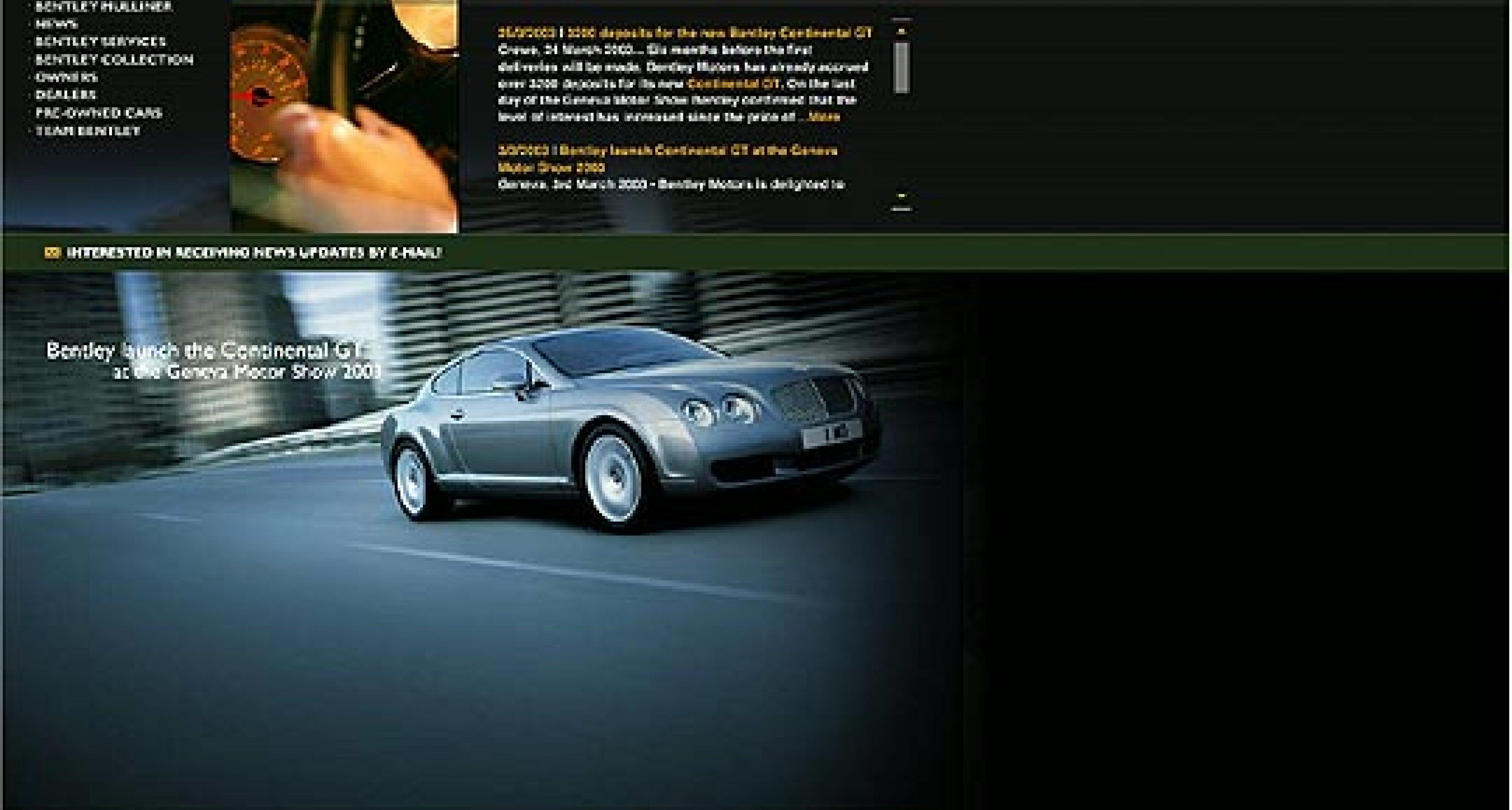 Bentleymotors.com: Neuer Bentley Internetauftritt