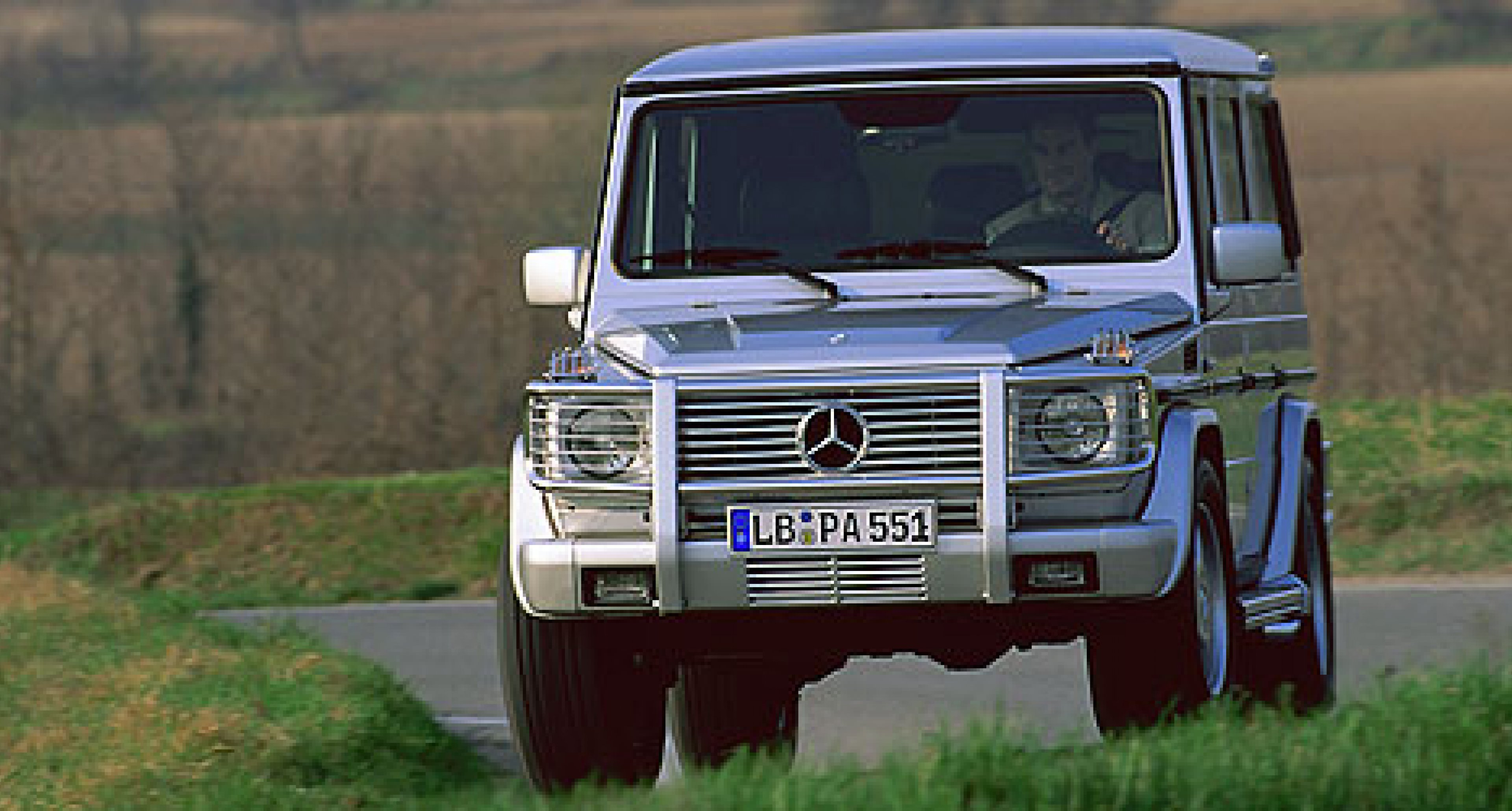 The new Mercedes G 55 AMG with V8 supercharged engine