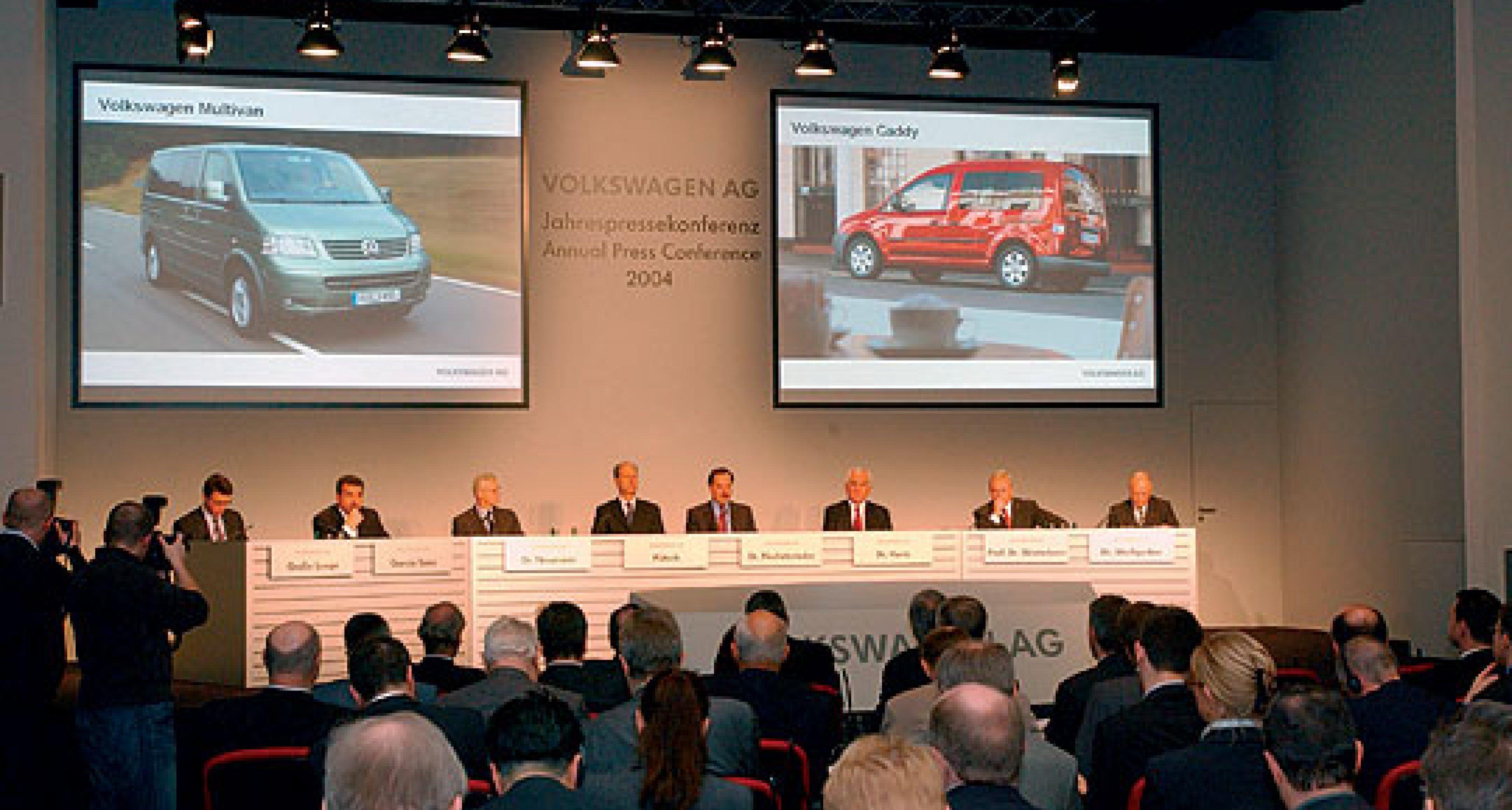Volkswagen Jahrespressekonferenz 2004