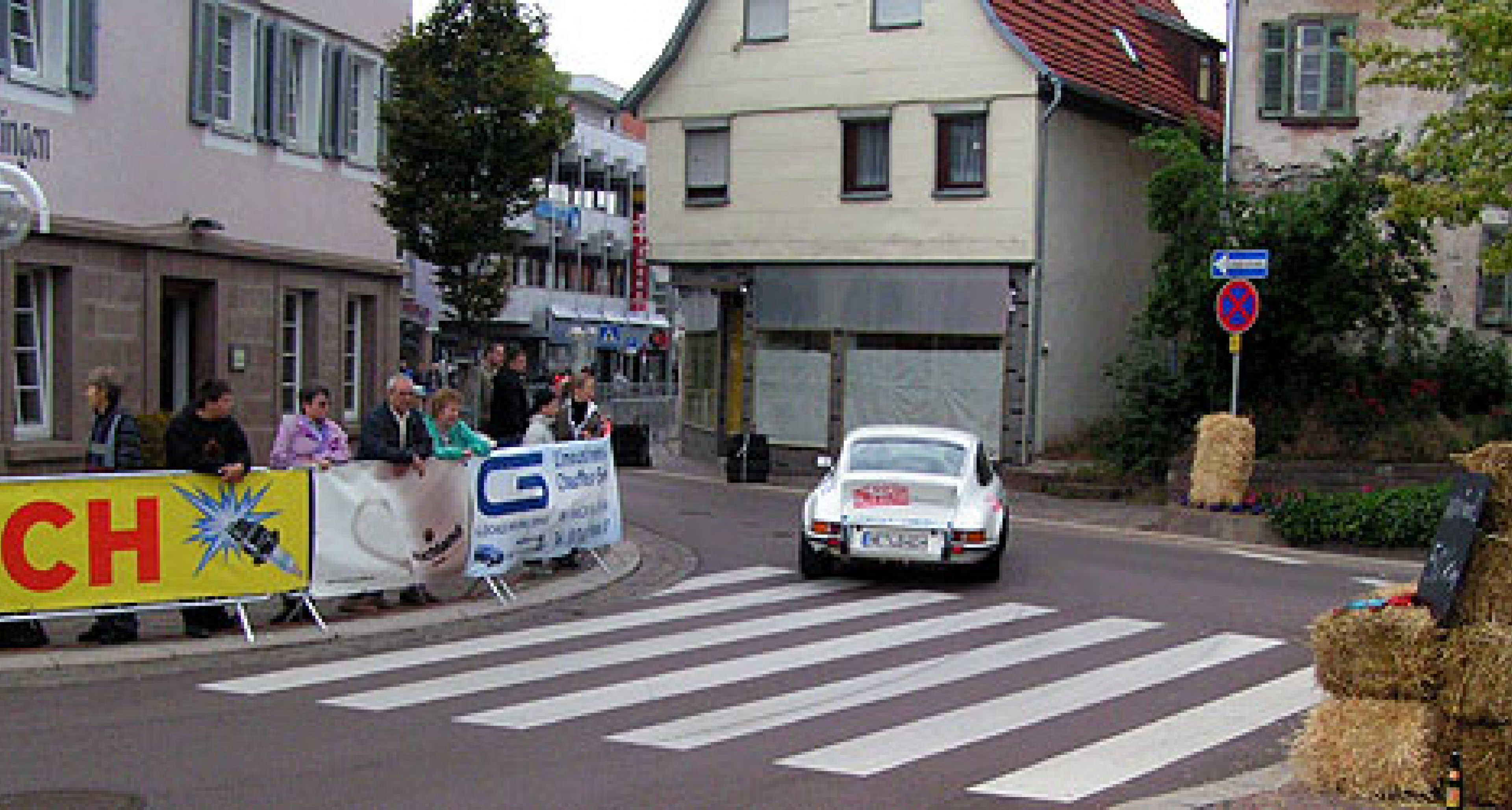 Stadt-Grand-Prix Gerlingen mit Unfall