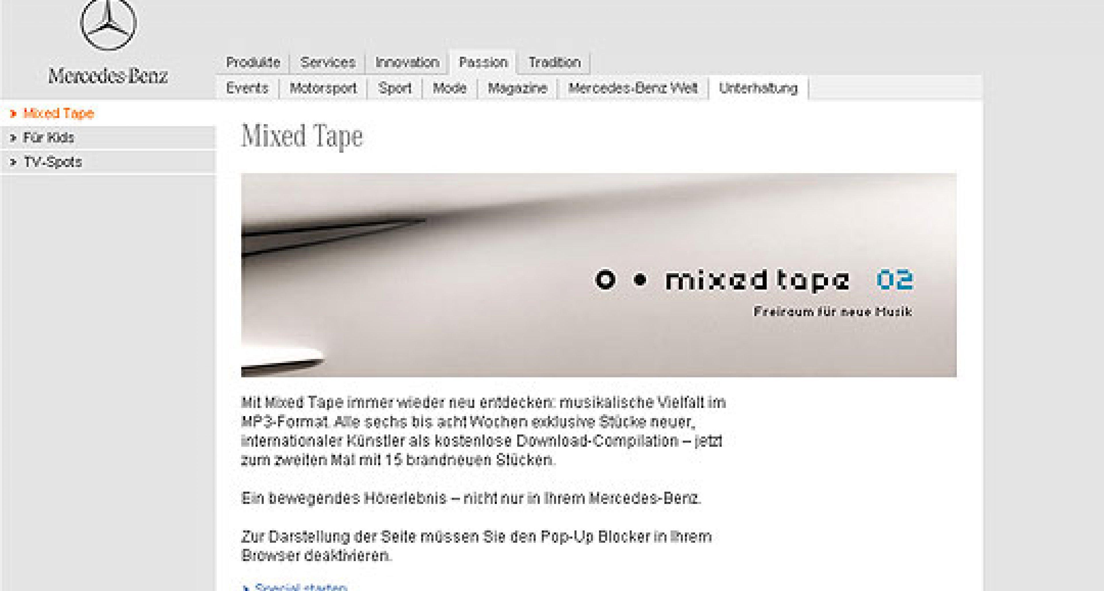 Mercedes-Benz: Kostenloser Musik-Download