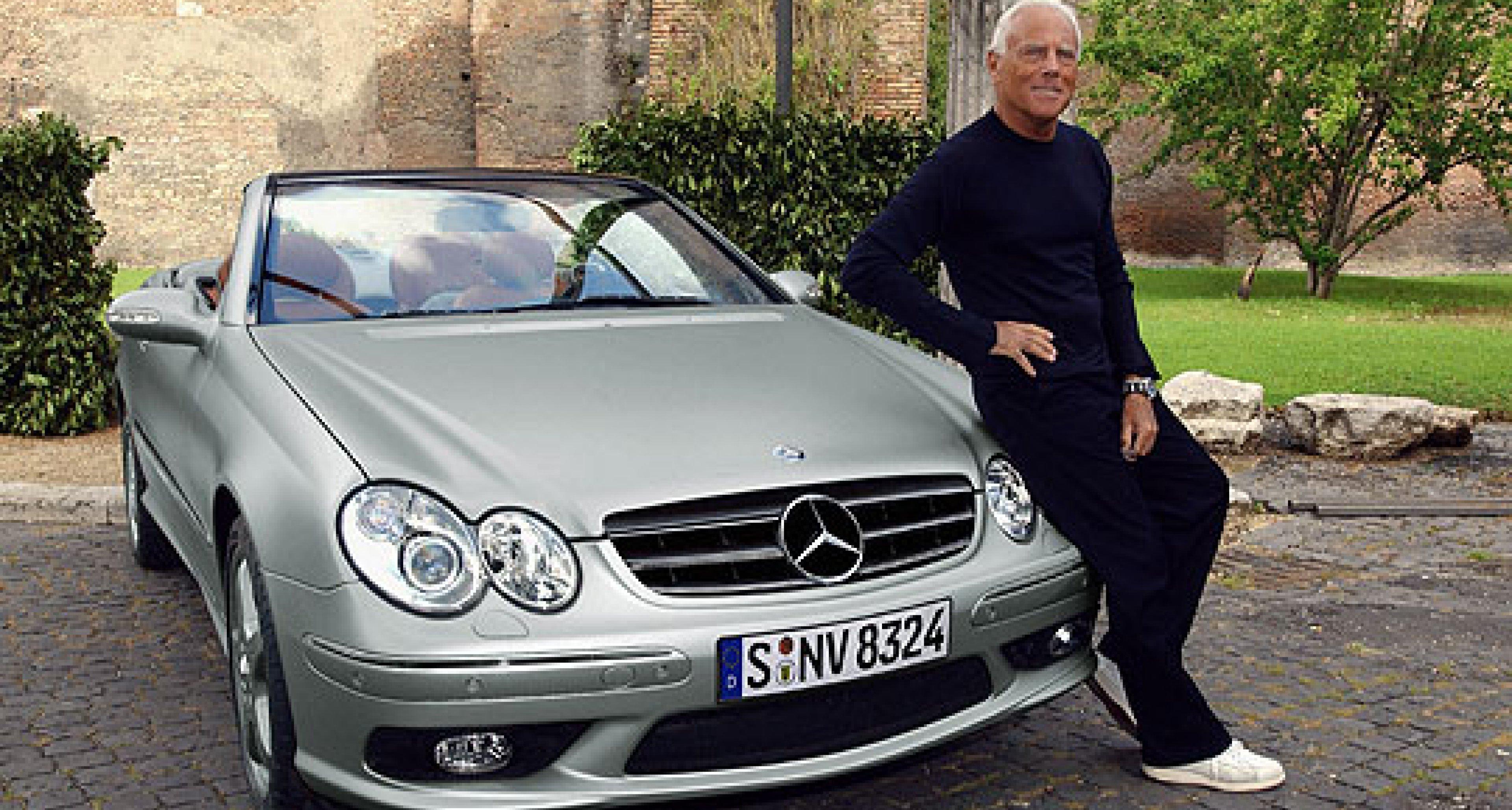 Mercedes-Benz CLK Cabrio von Giorgio Armani in Paris: Très chic!