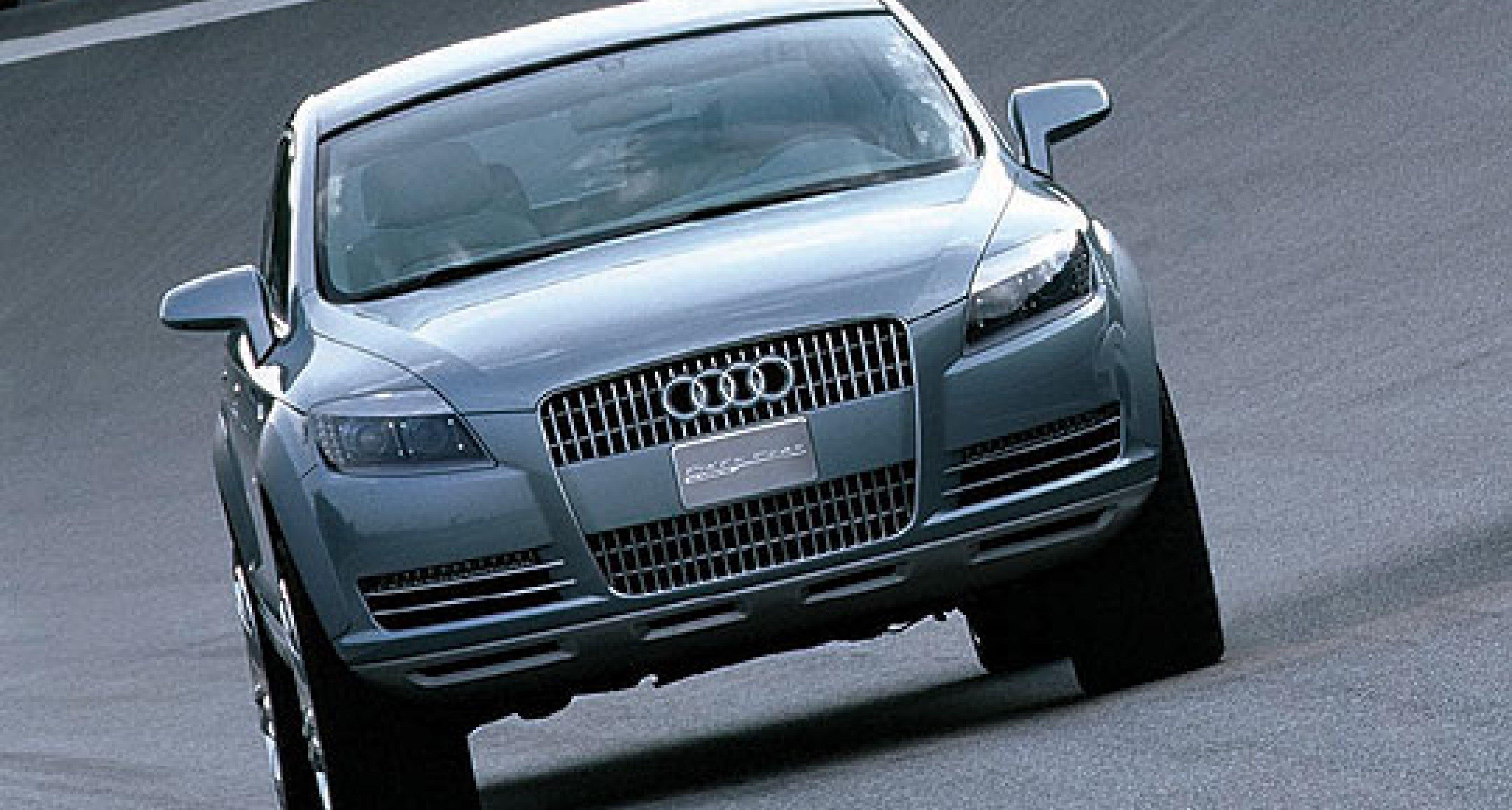 "Production version of Audi ""Pikes Peak"" quattro SUV design study to bear the name Q7"