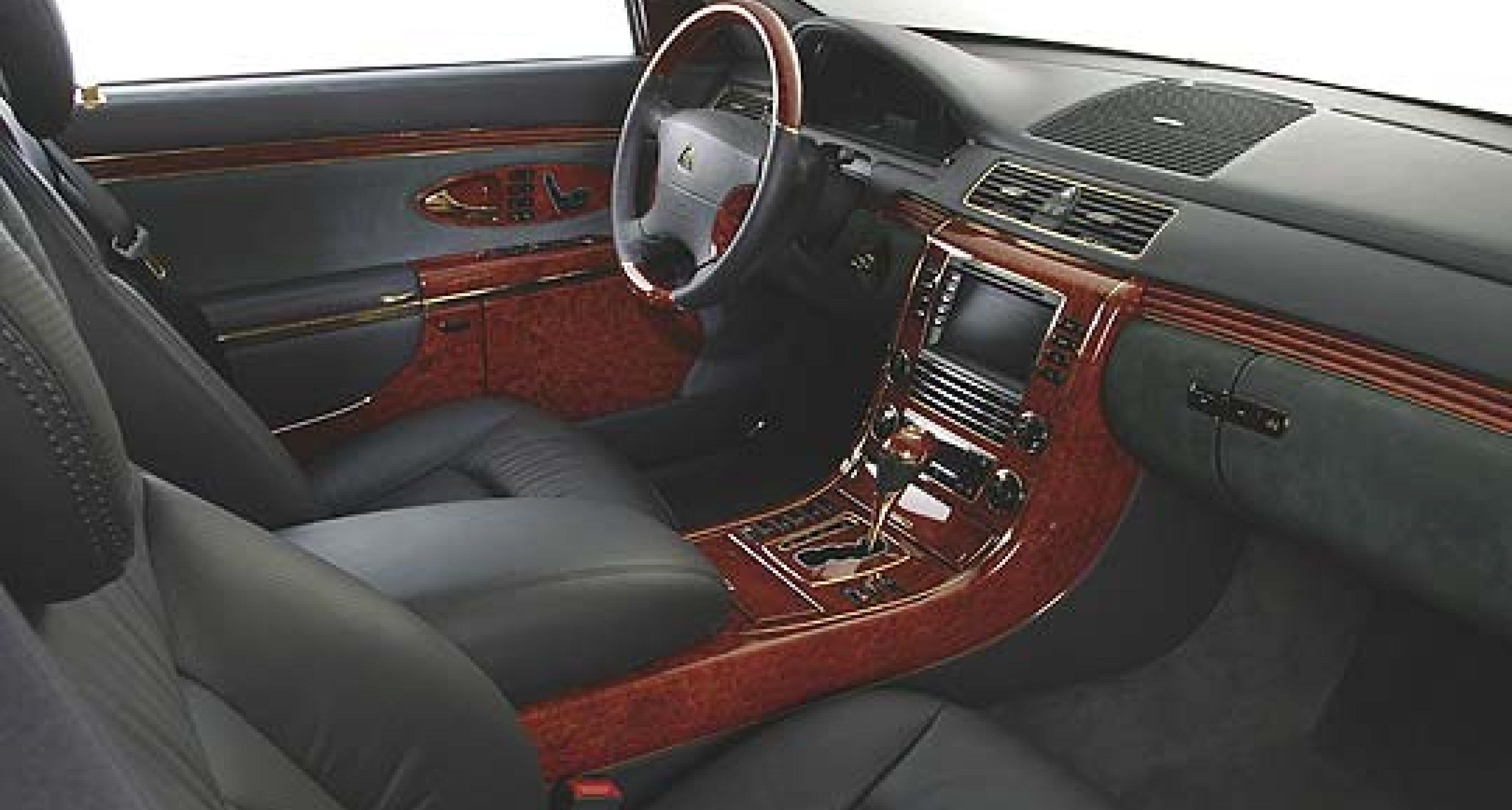 Maybach's brilliant idea: Gold rather than chrome interior