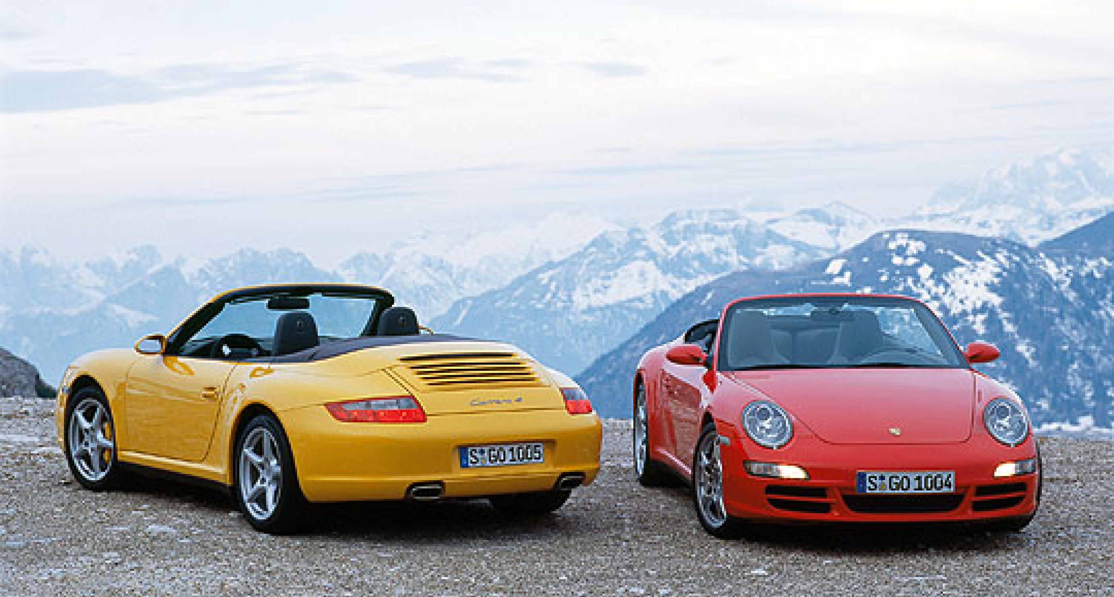 Four-Wheel Drive Porsche 911 Cabriolets