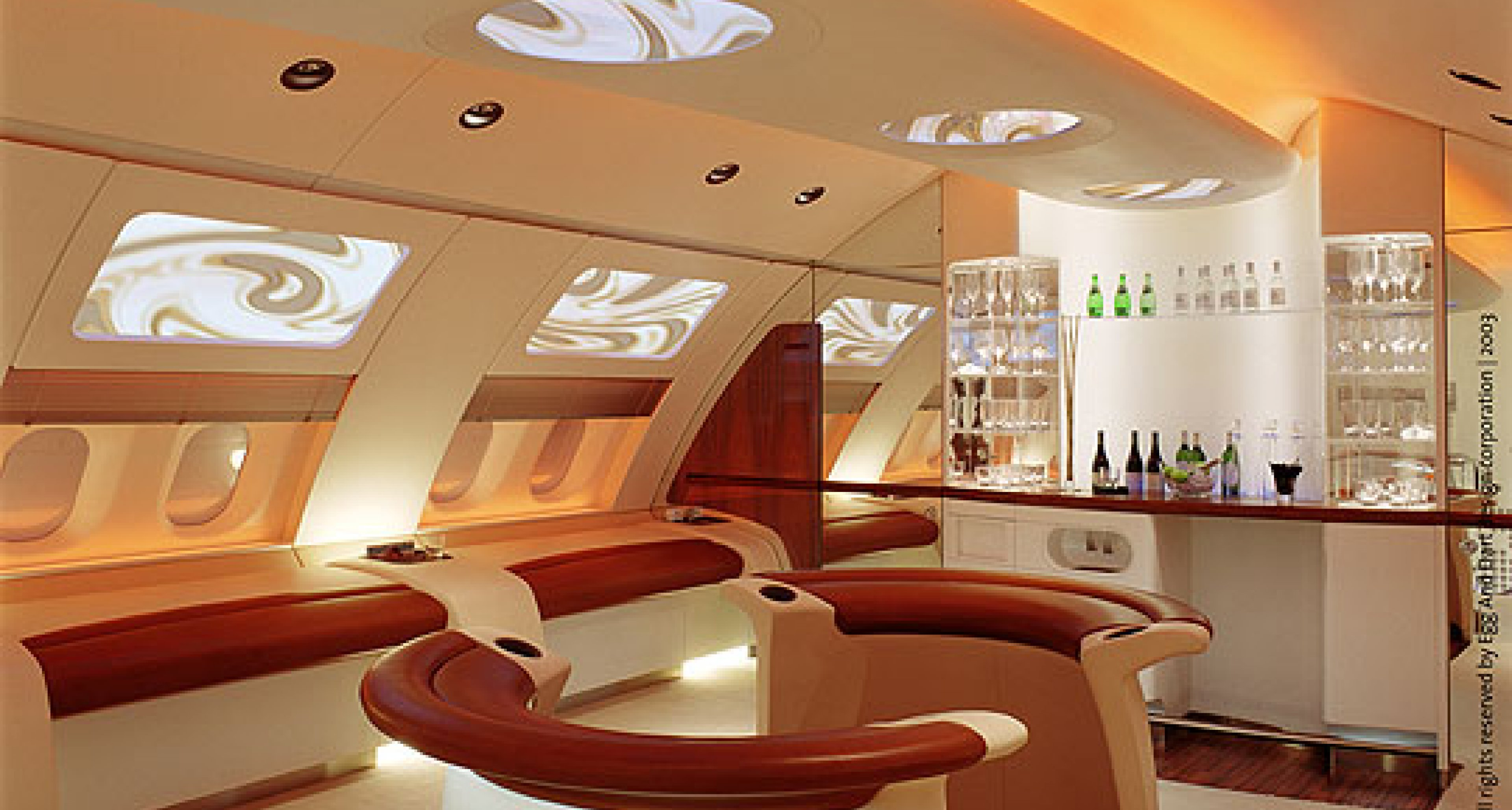 Open-plan living , aircraft cabin-style