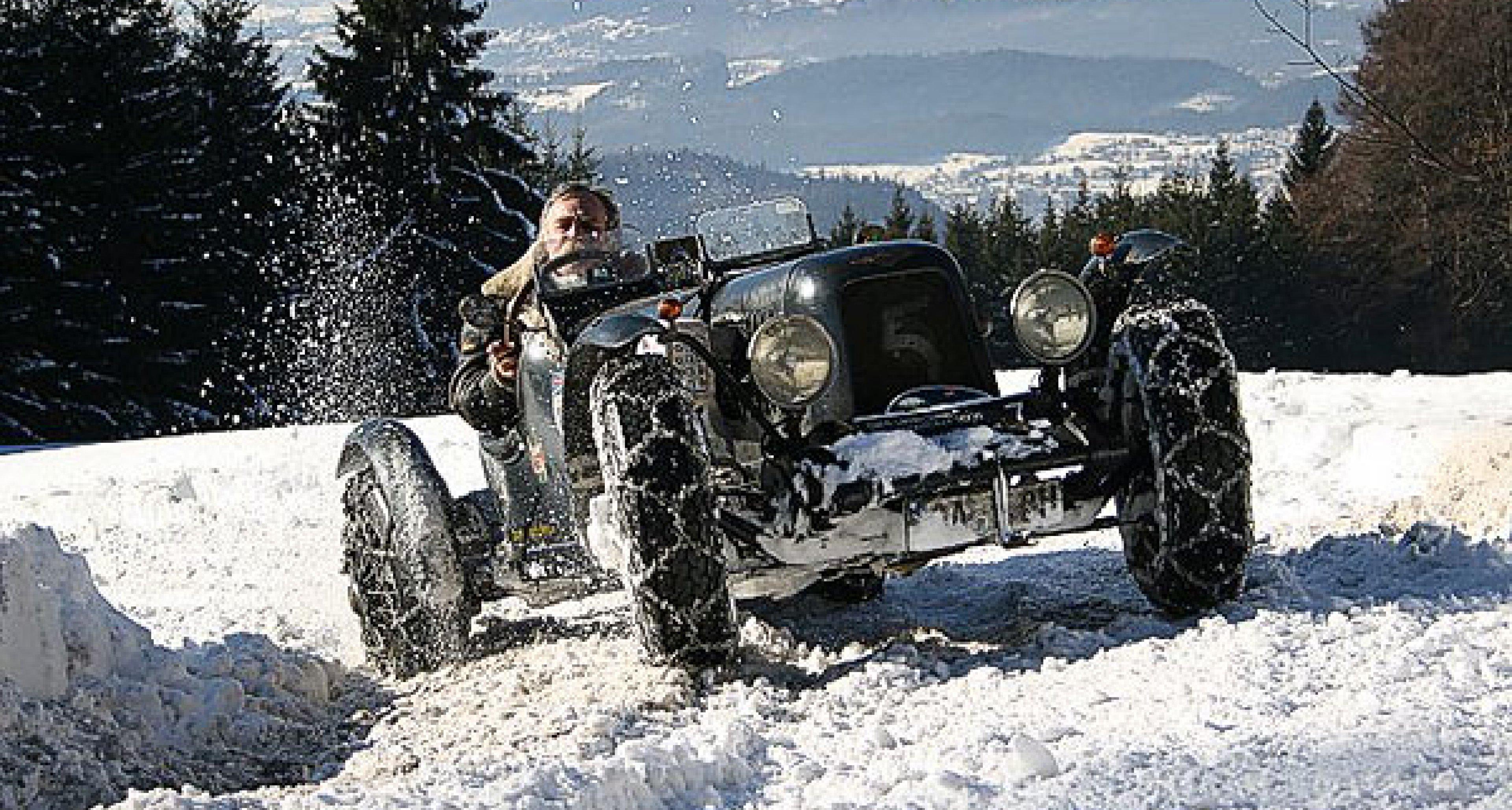 Driftshow im Schnee