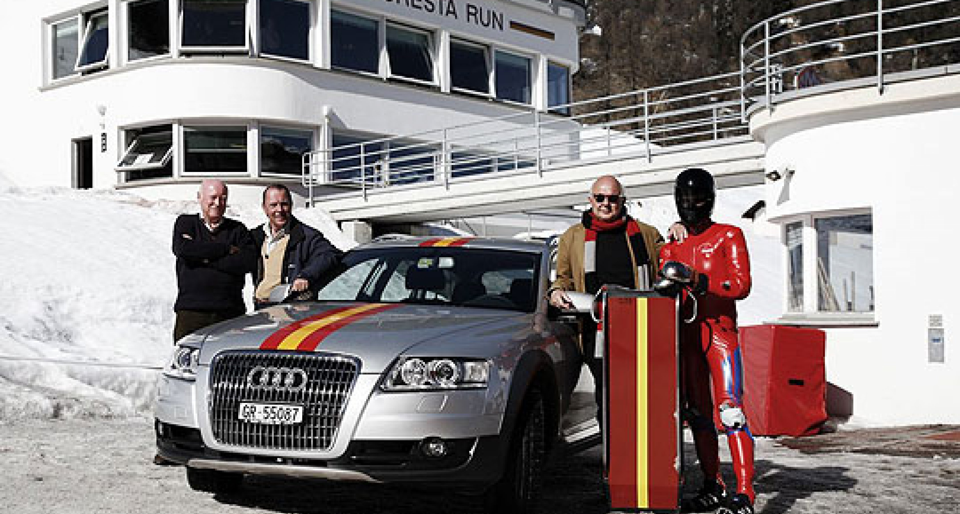 Audi A6 allroad – Safety Car for the St Moritz Tobogganing Club