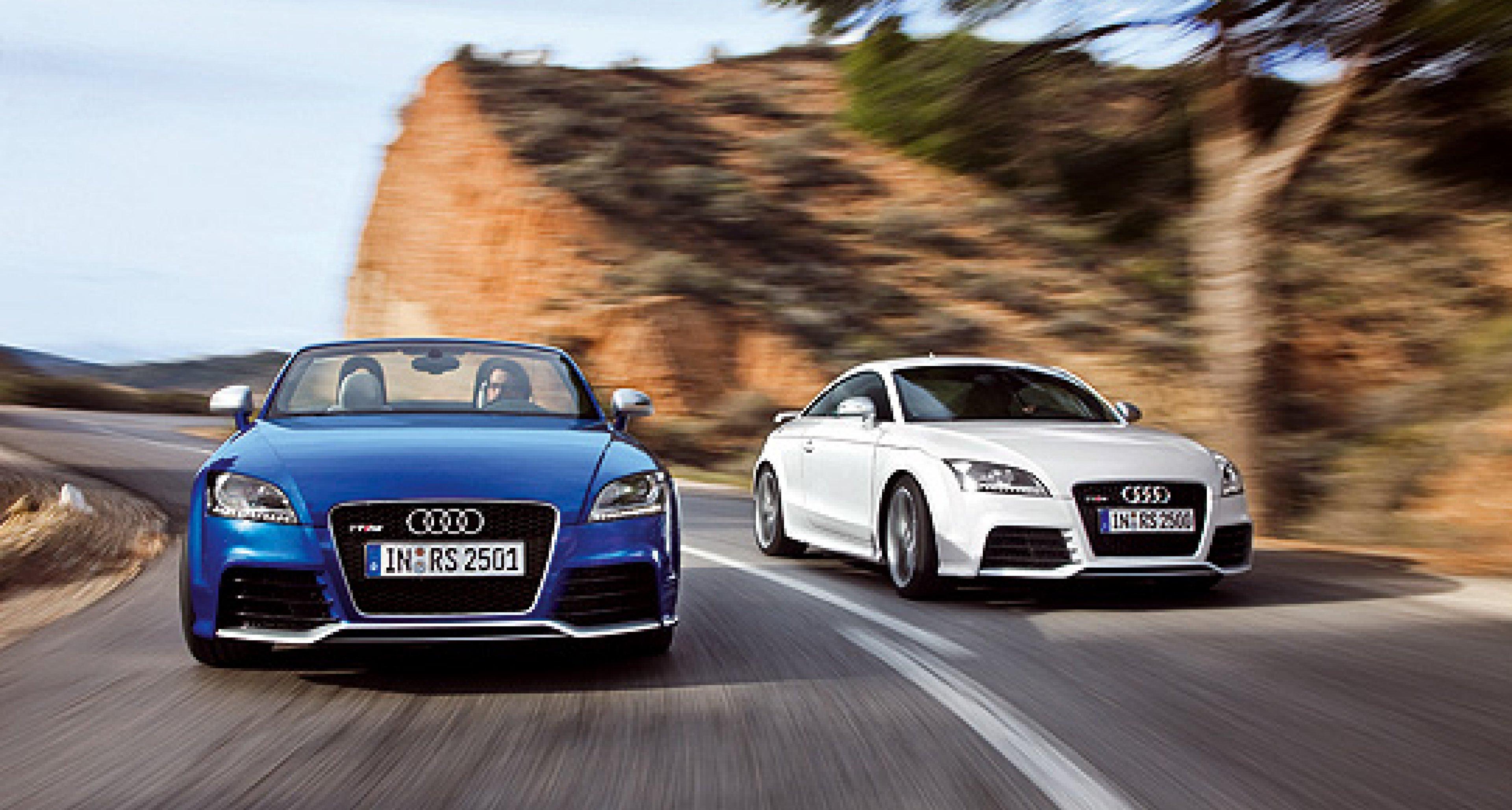 Audi TT RS Coupé und Roadster: Mit fünf Zylindern an die Spitze