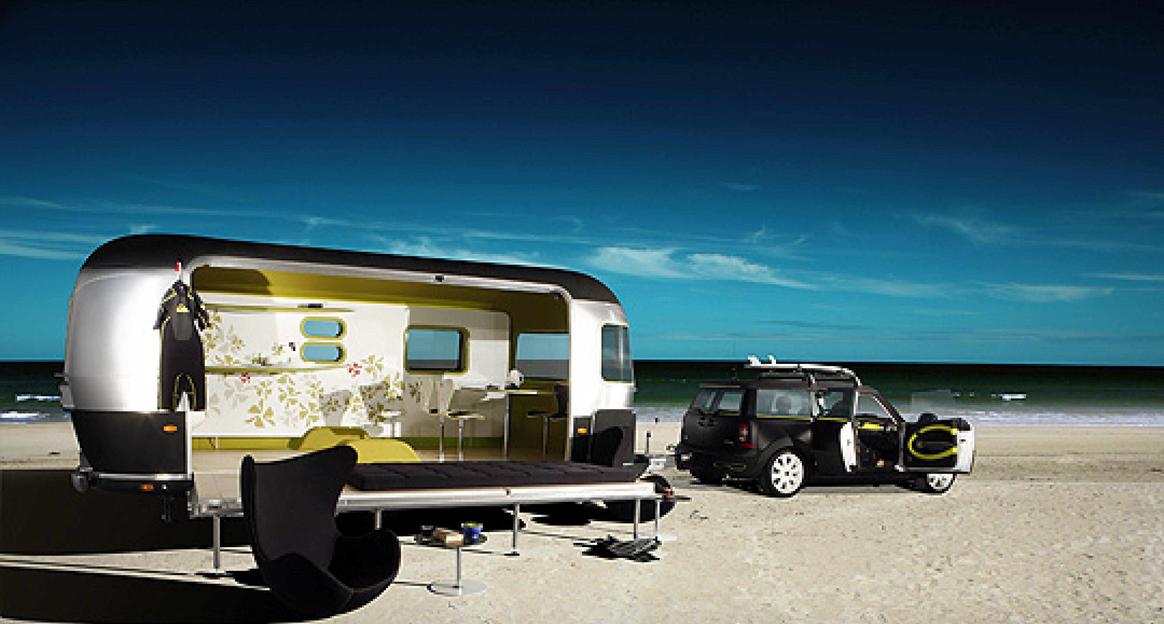 Mini Airstream Trailer: Wellenreiter