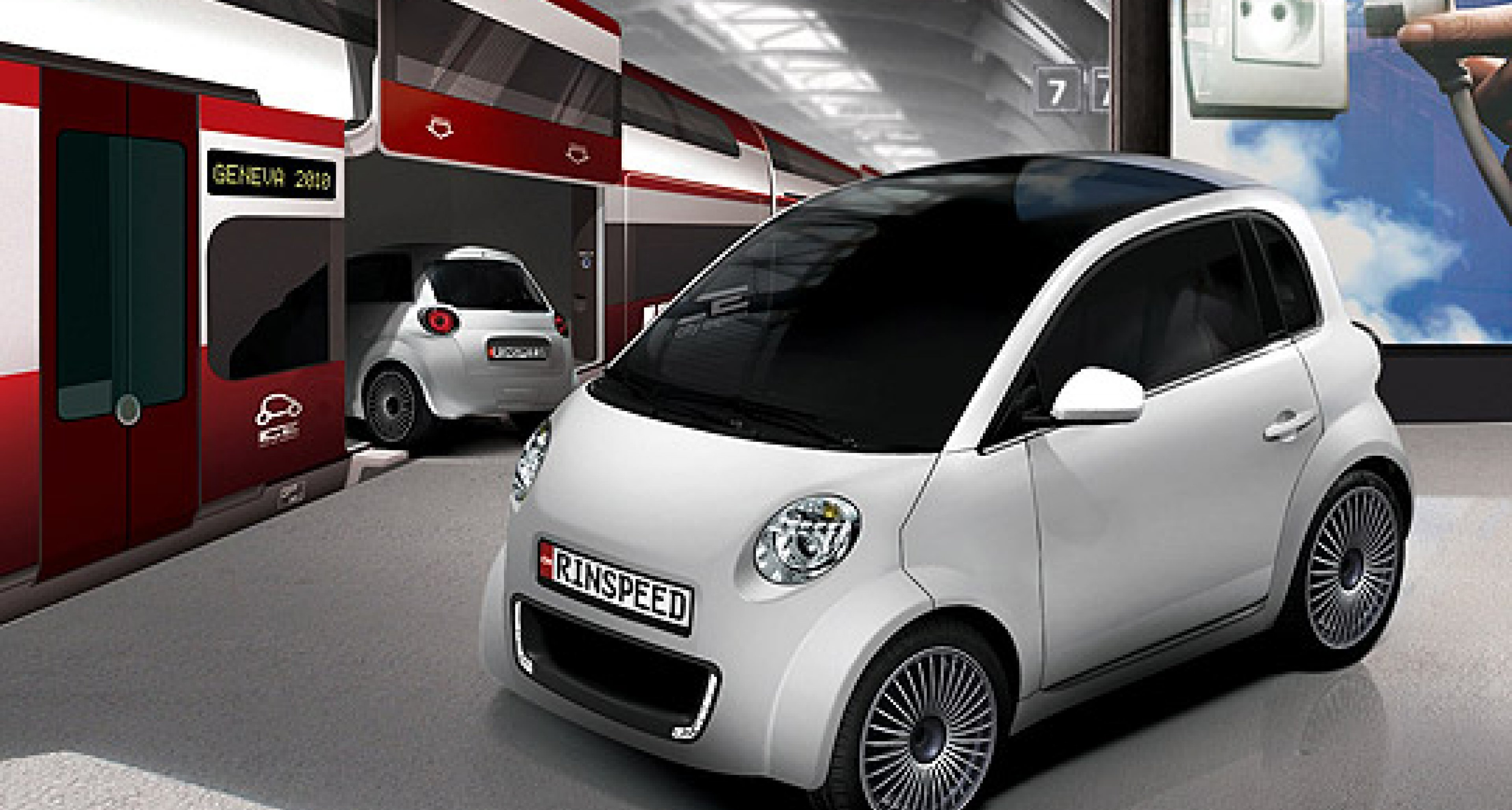 Rinspeed UC: Elektromobil für Stadt und Schiene