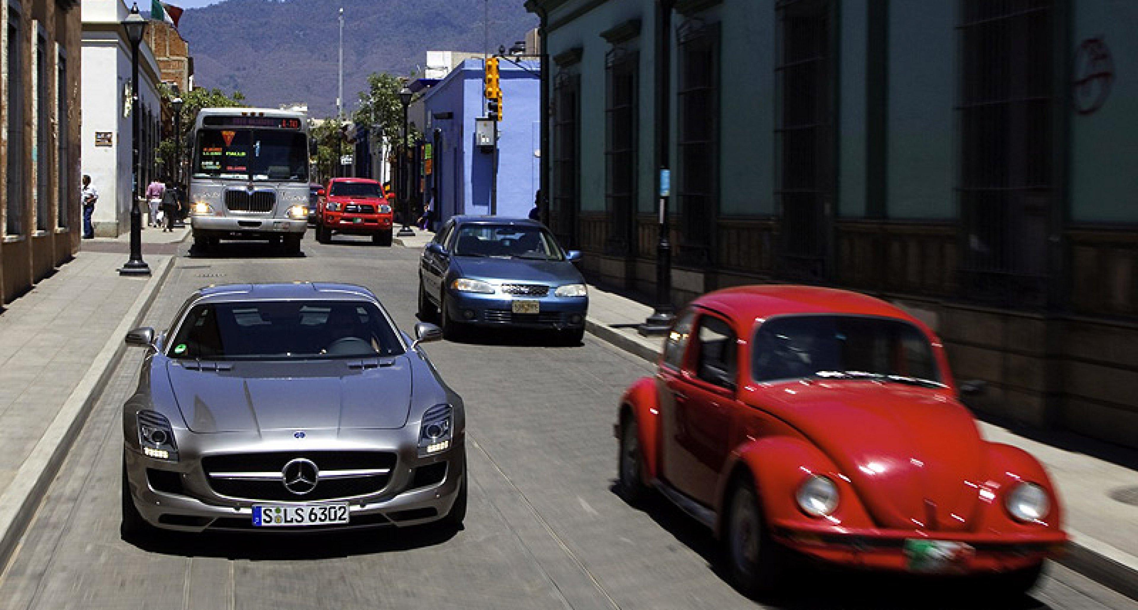 Carrera Panamericana im Mercedes 300 SL und SLS AMG