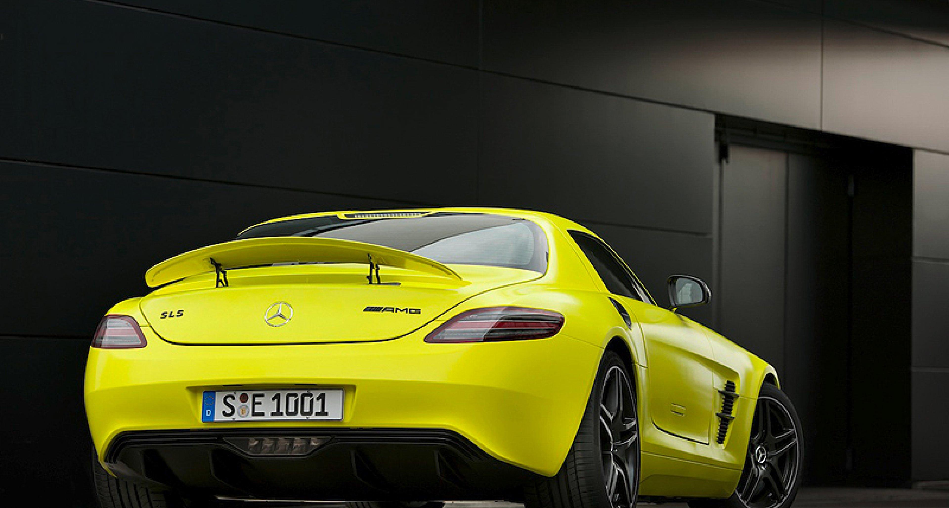 Mercedes-Benz SLS AMG E-Cell: Gelber Blitz
