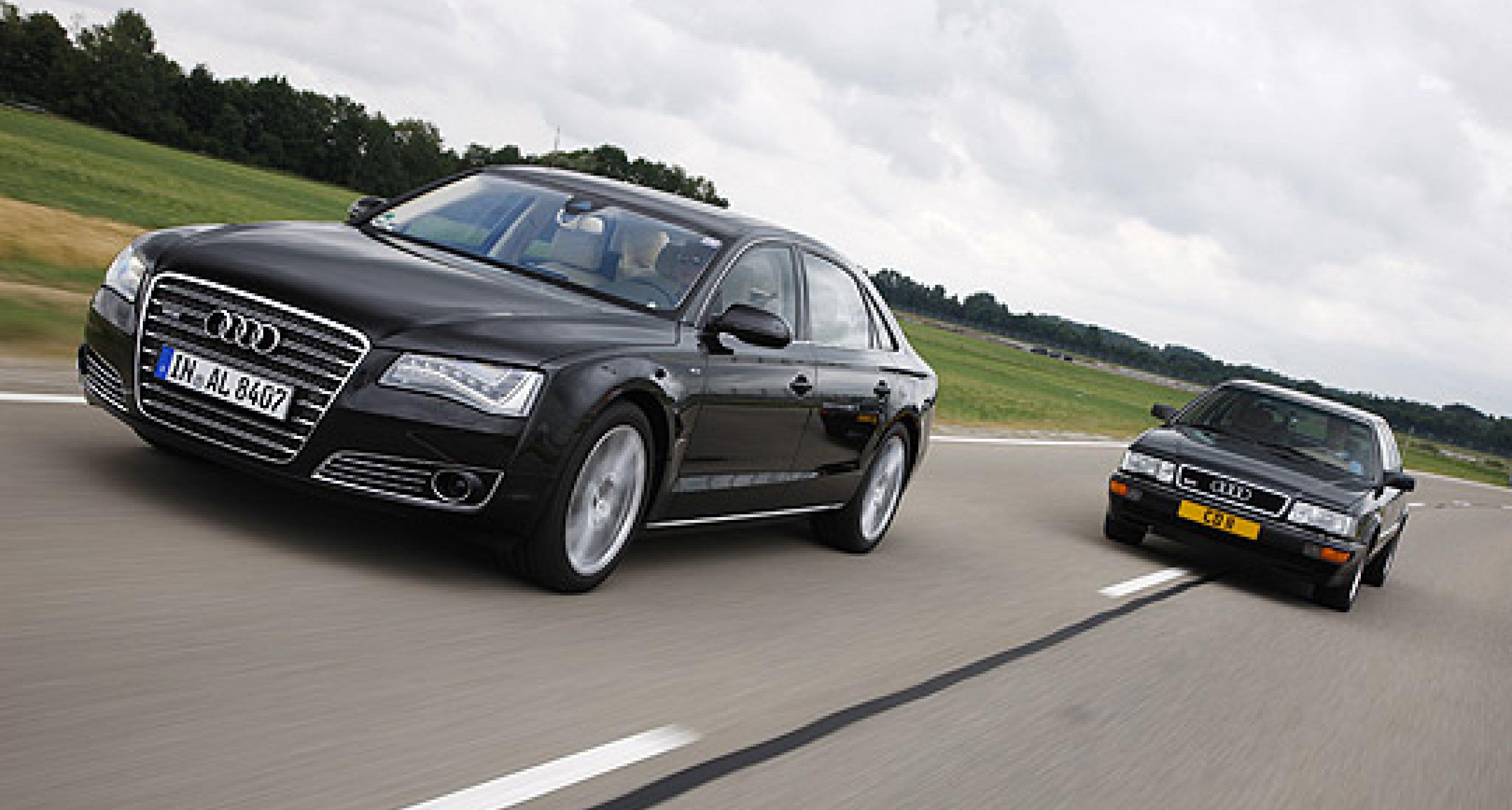 Audi A8 W12 lang vs. Audi V8 4,2L: Das Maß der Ringe