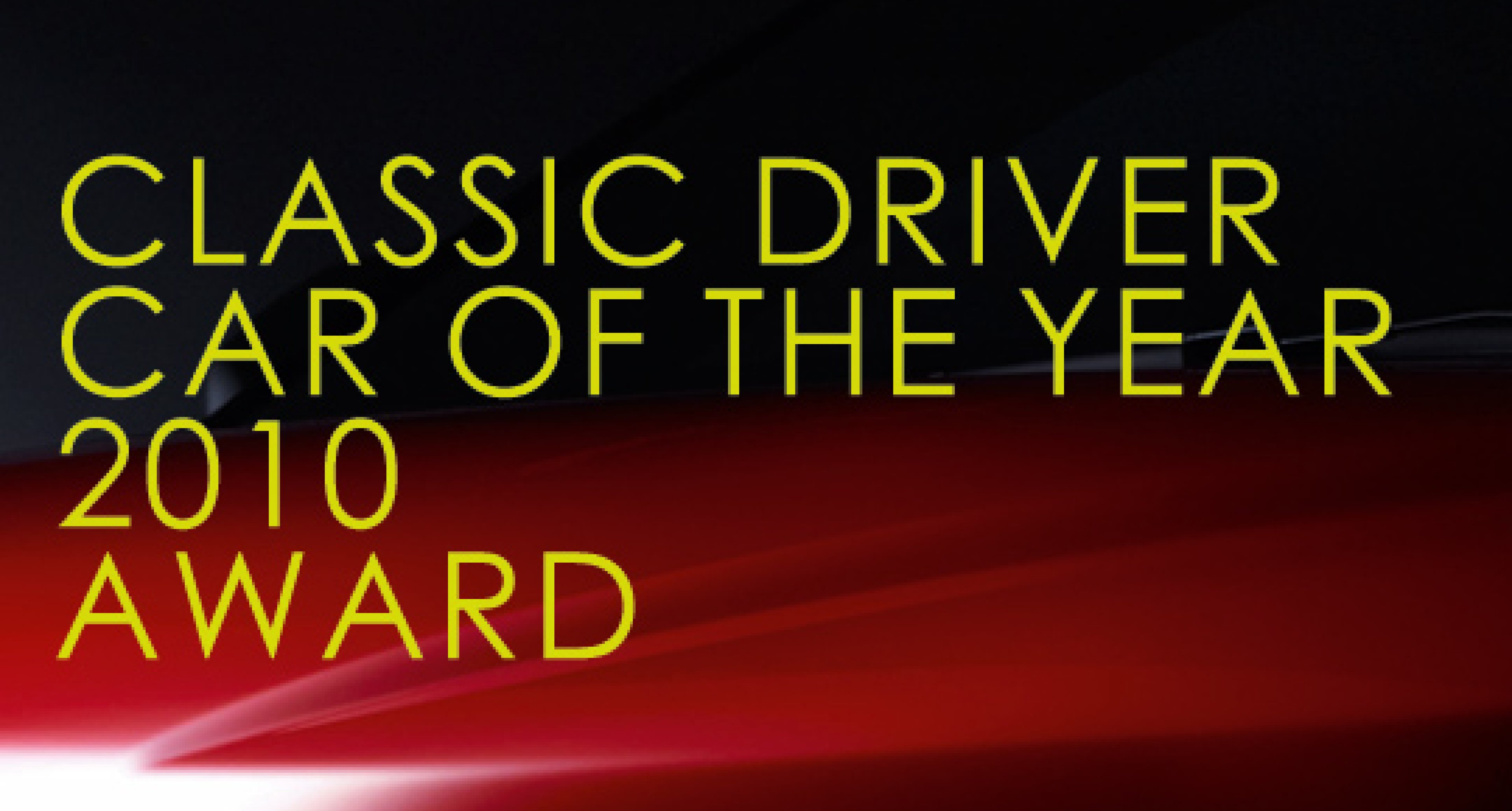Classic Driver Car of the Year 2010: the Winners