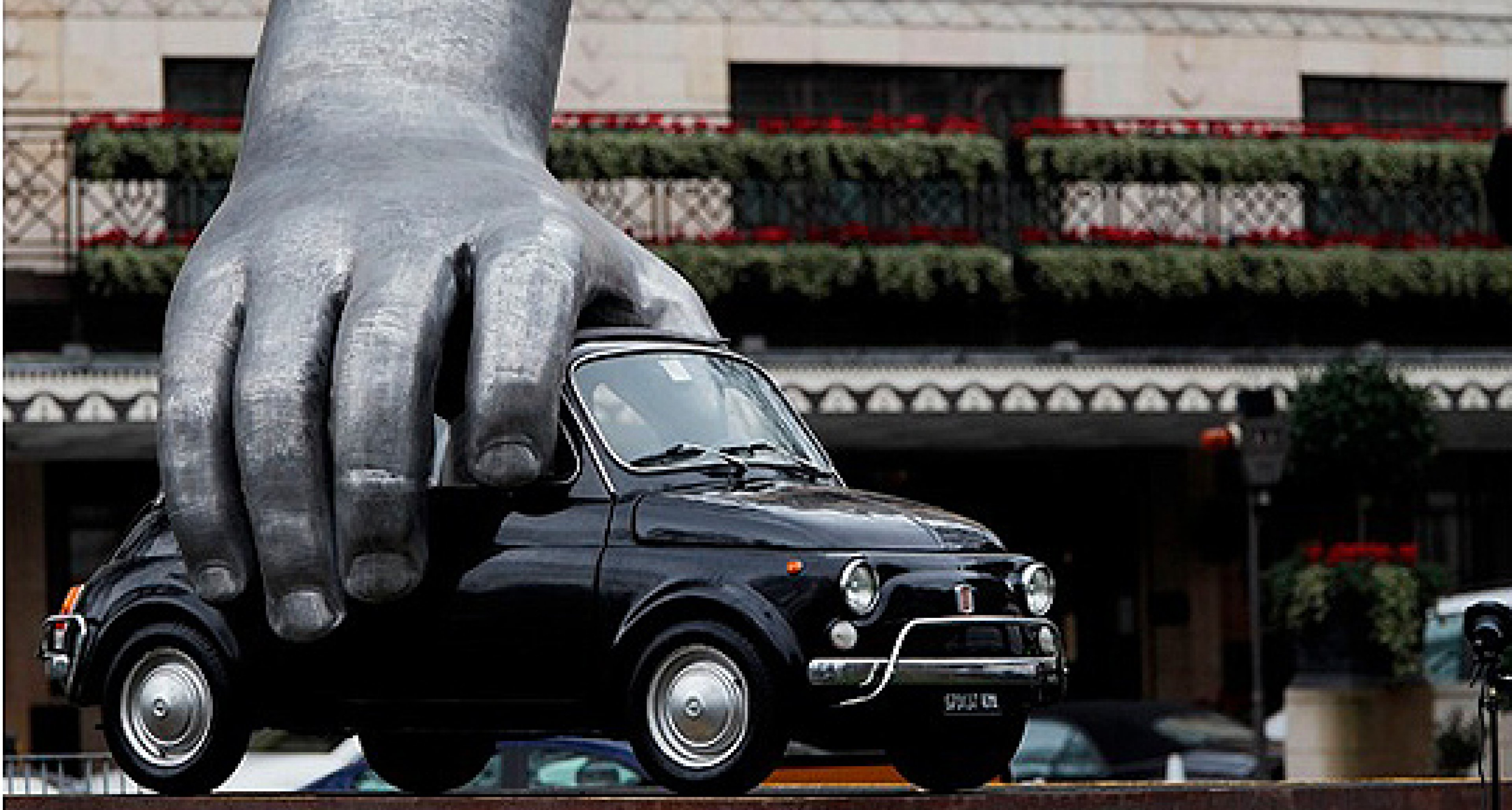 Vroom Vroom: Fiat Sculpture in the Heart of London