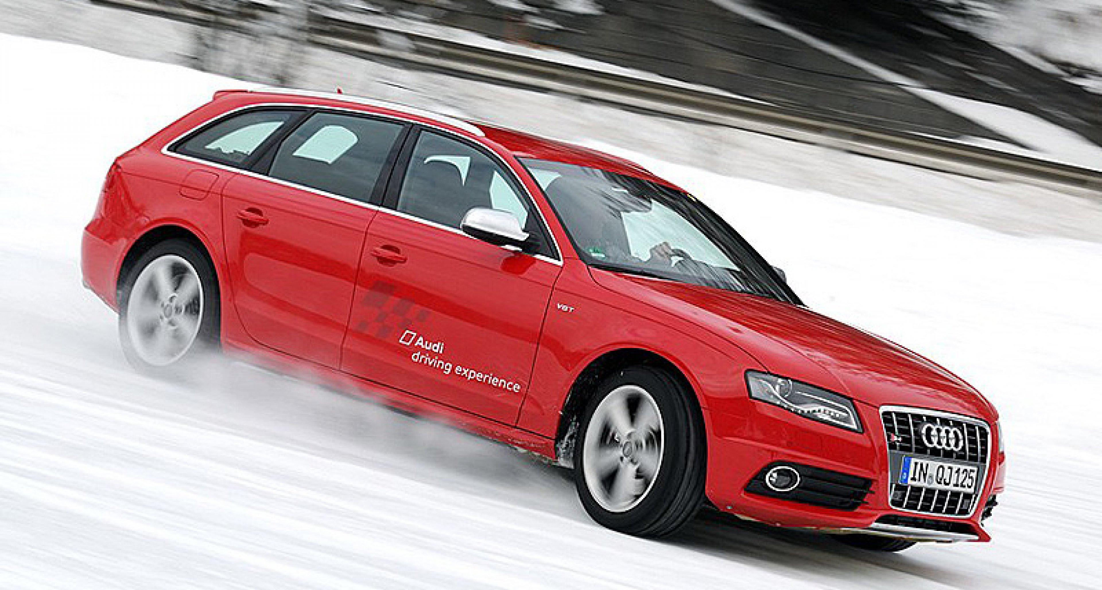 Wintertraining im Audi S4: Das Tal der Querlenker