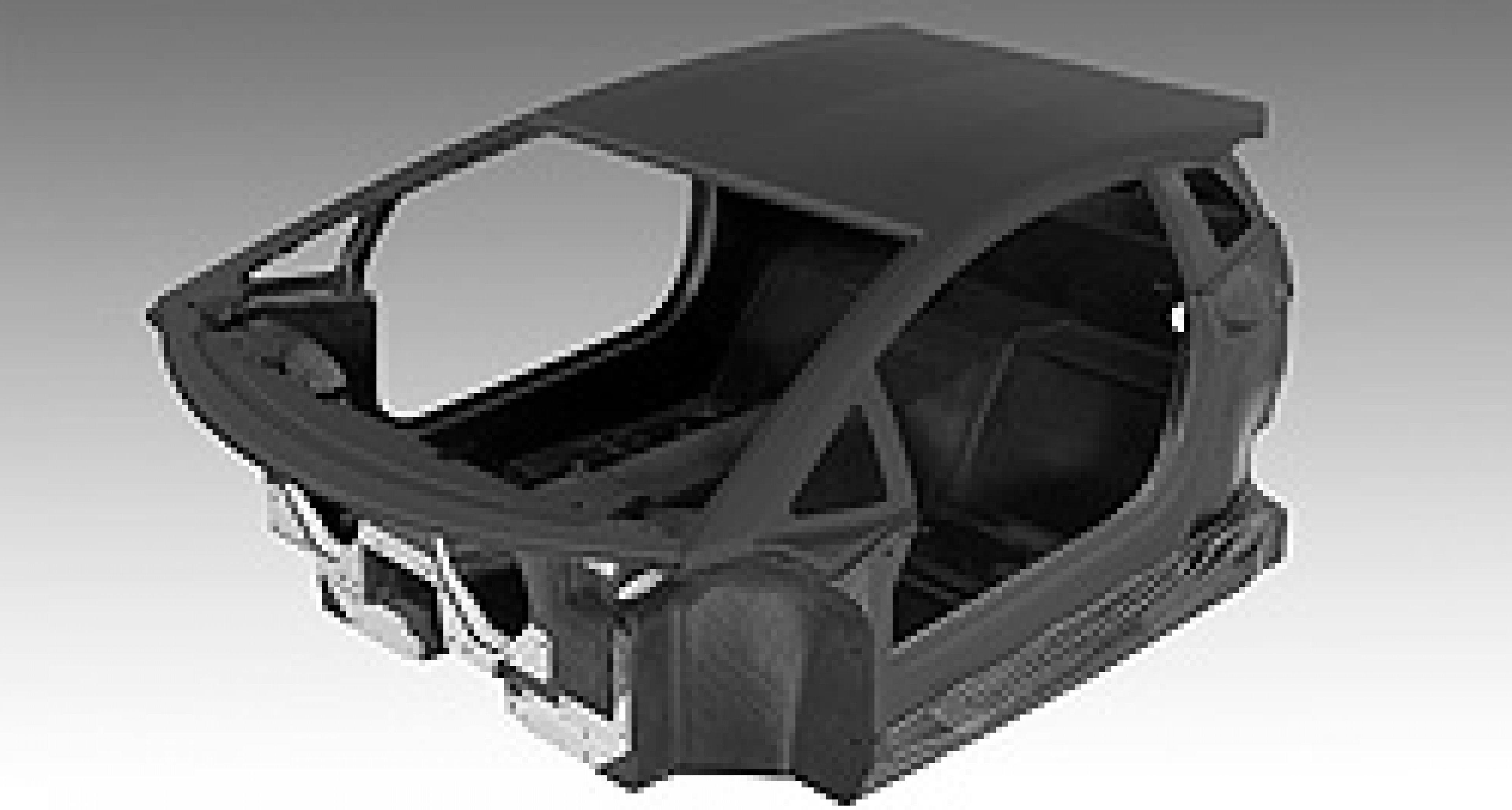 Kohlefaser-Monocoque im neuen Lamborghini V12
