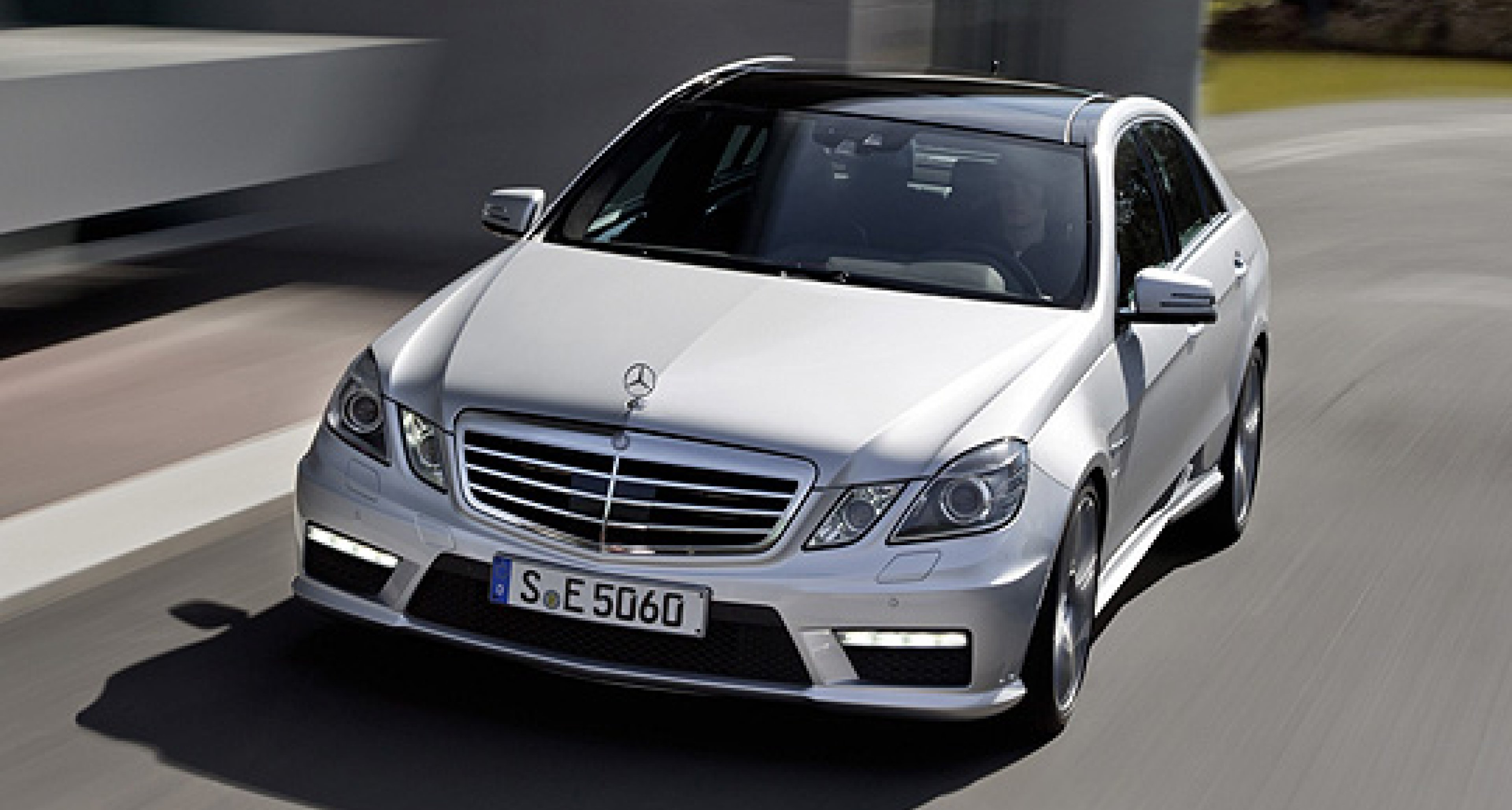 Mercedes-Benz E63 AMG with new AMG 5.5-litre Twin-turbo V8