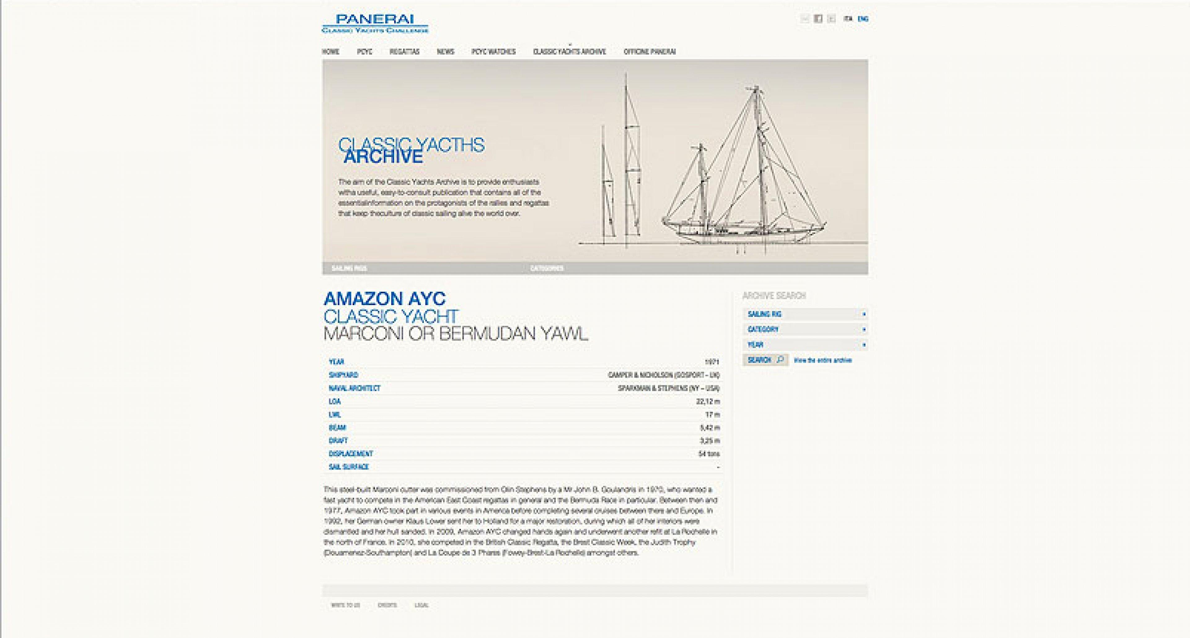 Panerai Classic Yachts Challenge: Ins Netz gegangen