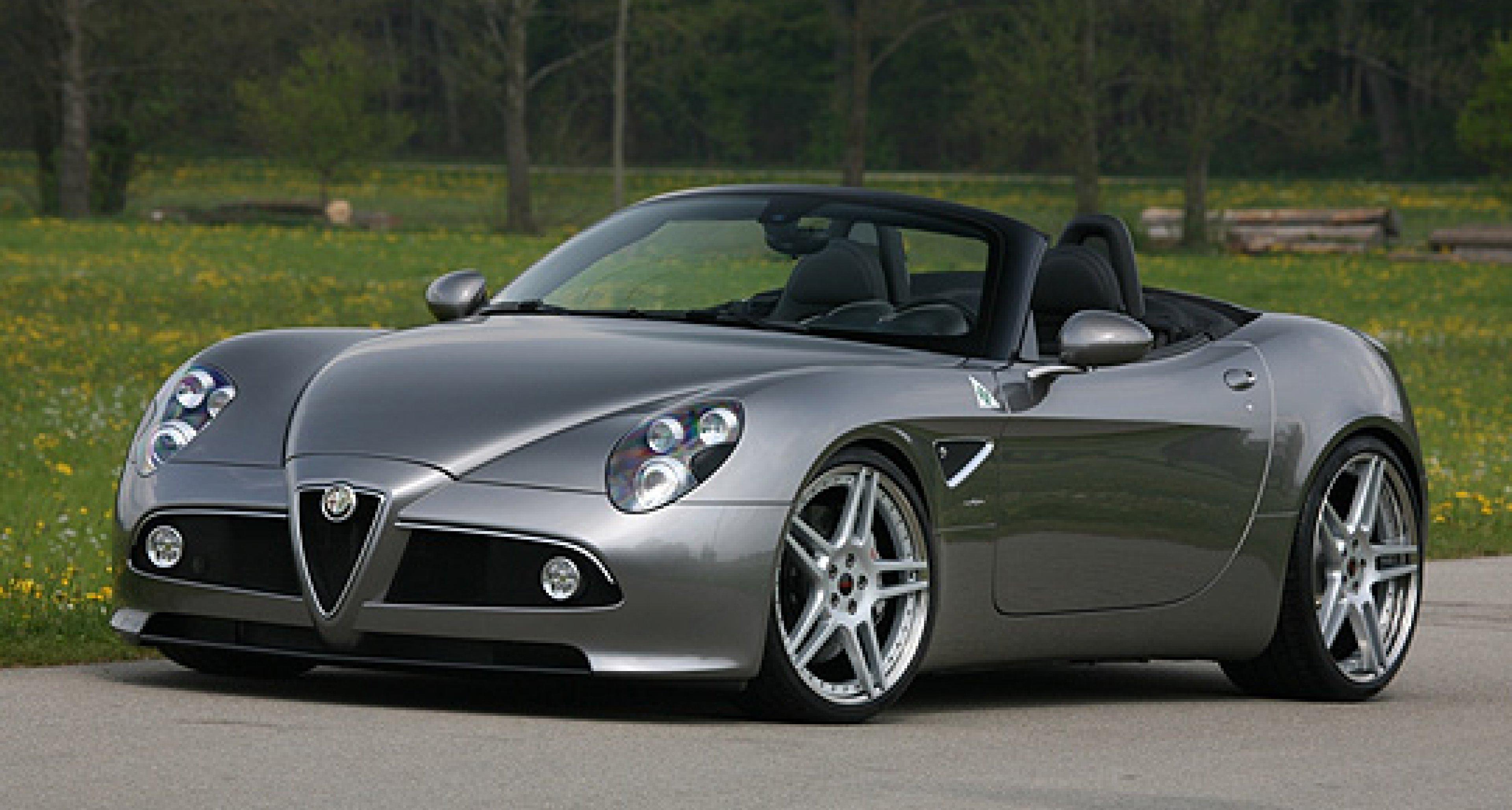 Alfa Romeo 8C mit Leistungssteigerung von Novitec