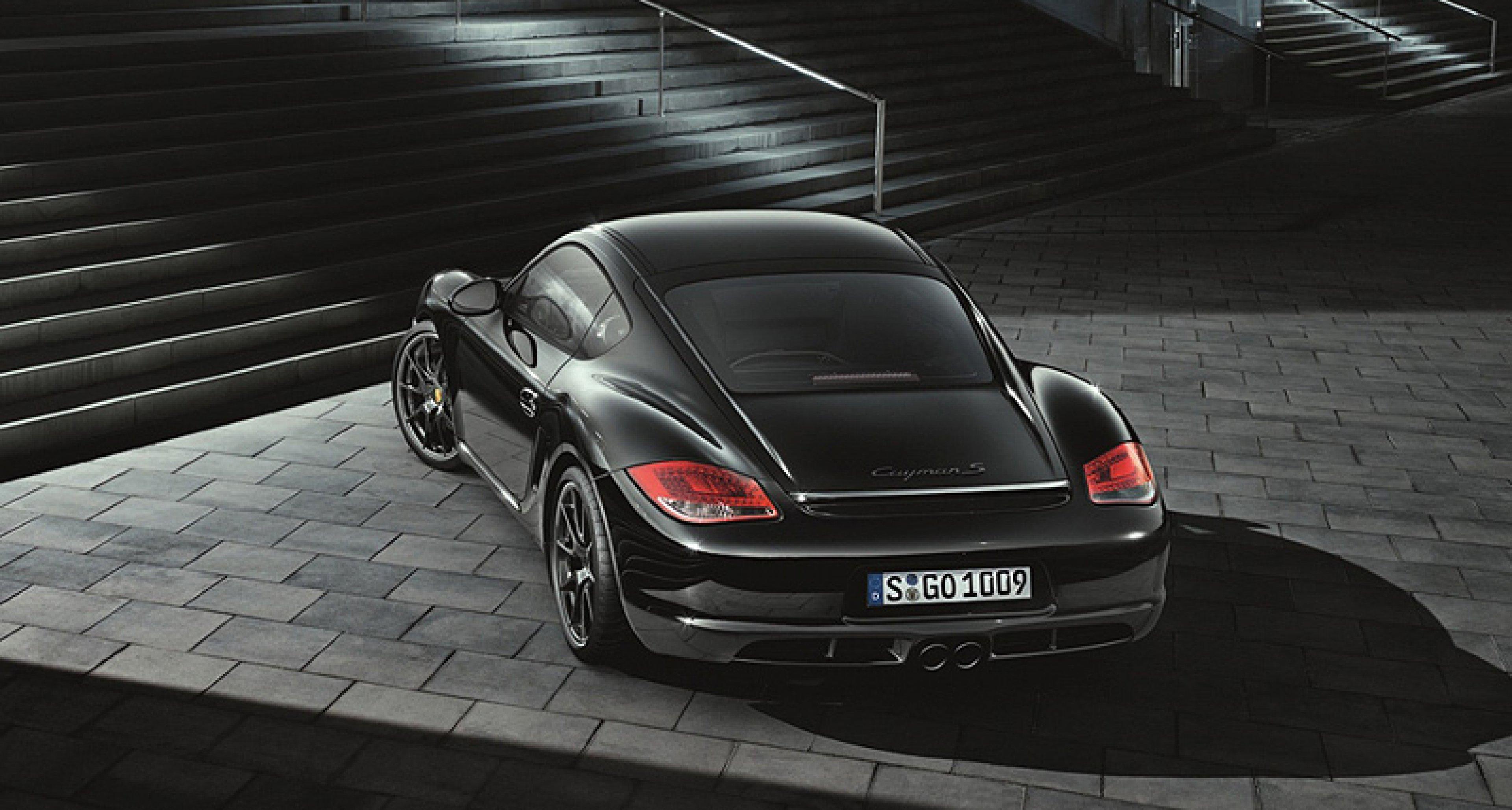 Porsche Cayman S Black Edition: Schwarz in Schwarz