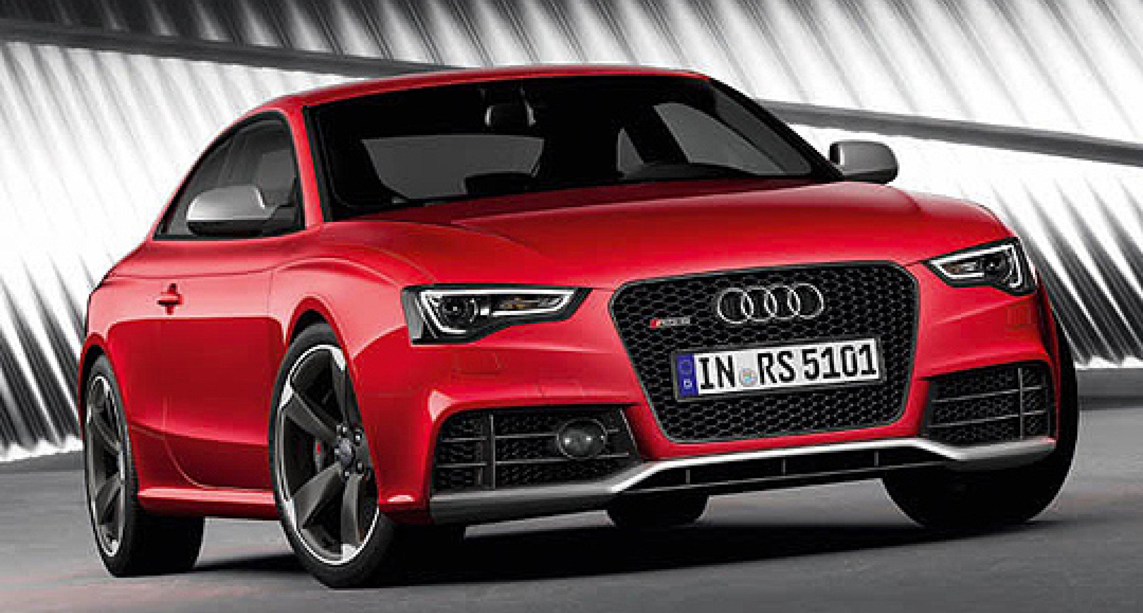 Audi RS5 mit scharfem Blick in Frankfurt