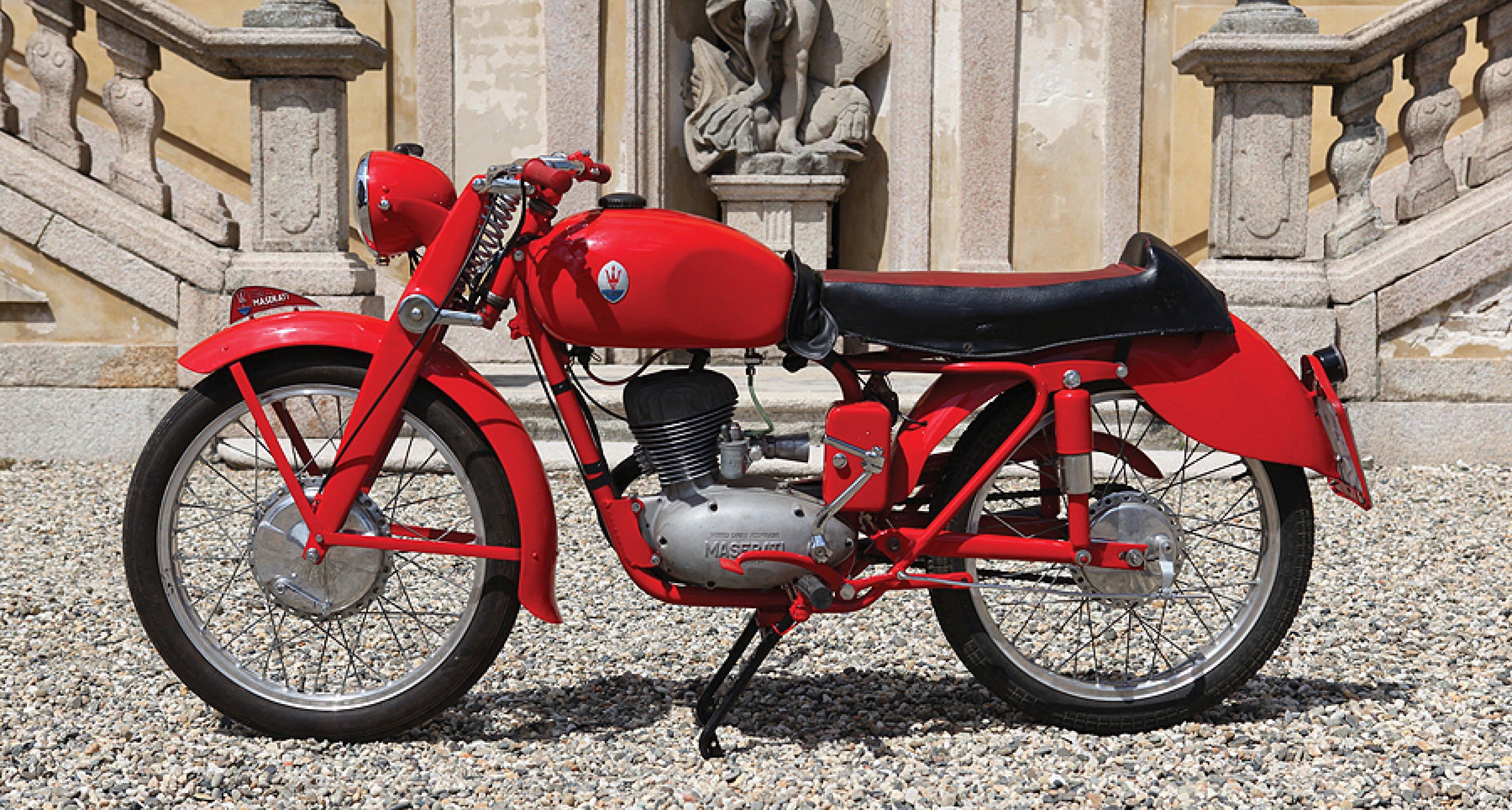 Zweirad mit Dreizack: Maserati-Motorrad von 1953 wird versteigert