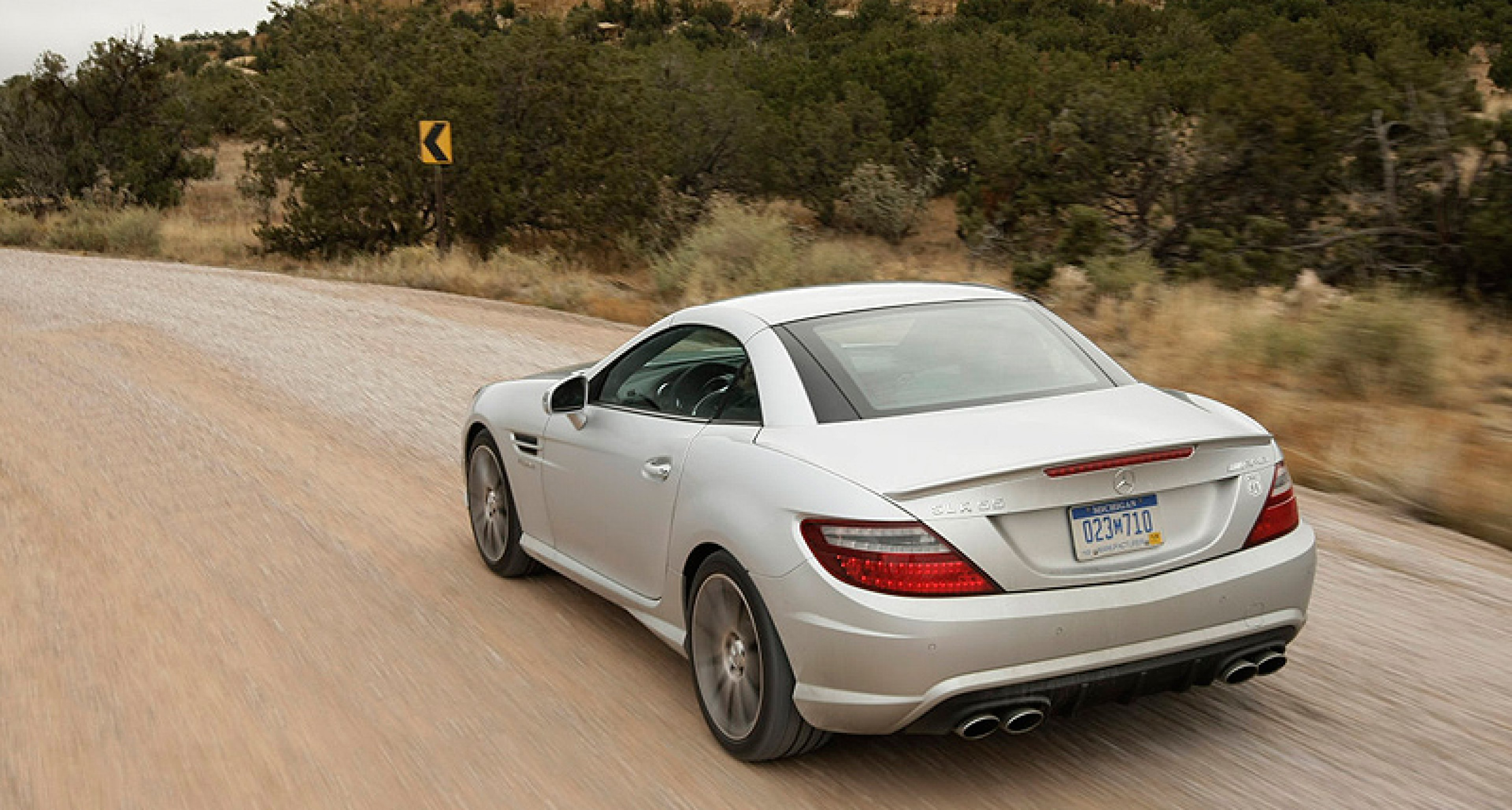 The Mercedes SLK 55 AMG on Route 66: Road of Hope