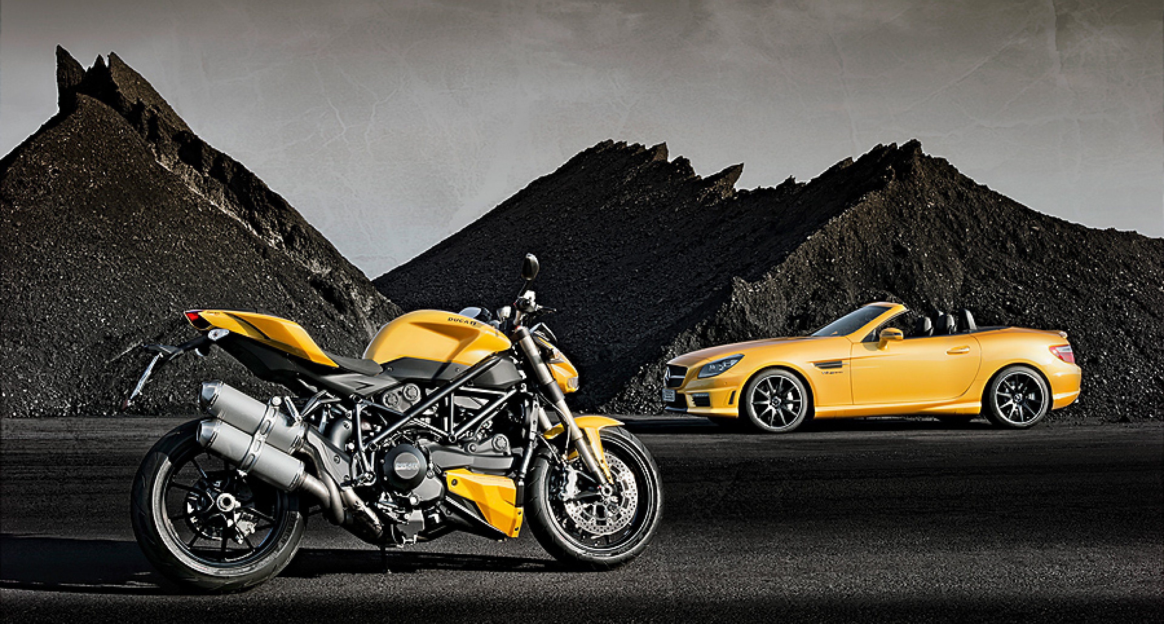 """Mercedes-AMG x Ducati: Gemeinsame Sache in """"Streetfighter Yellow"""""""