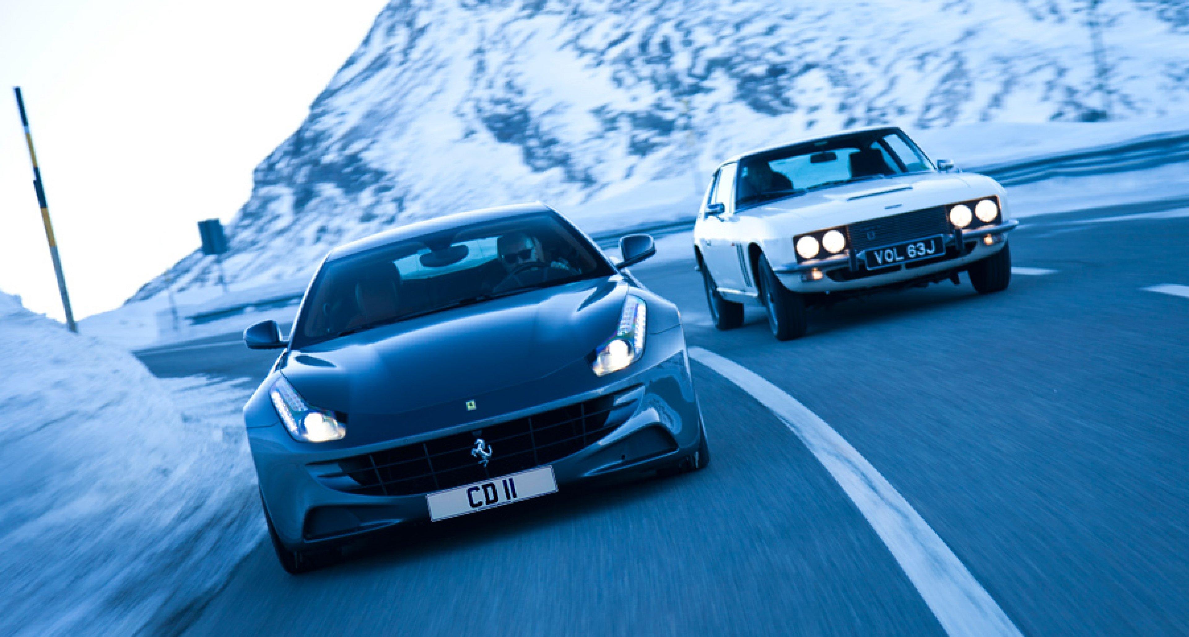 Ferrari Ff Vs Jensen Ff Fast Forward To St Moritz On Video Classic Driver Magazine