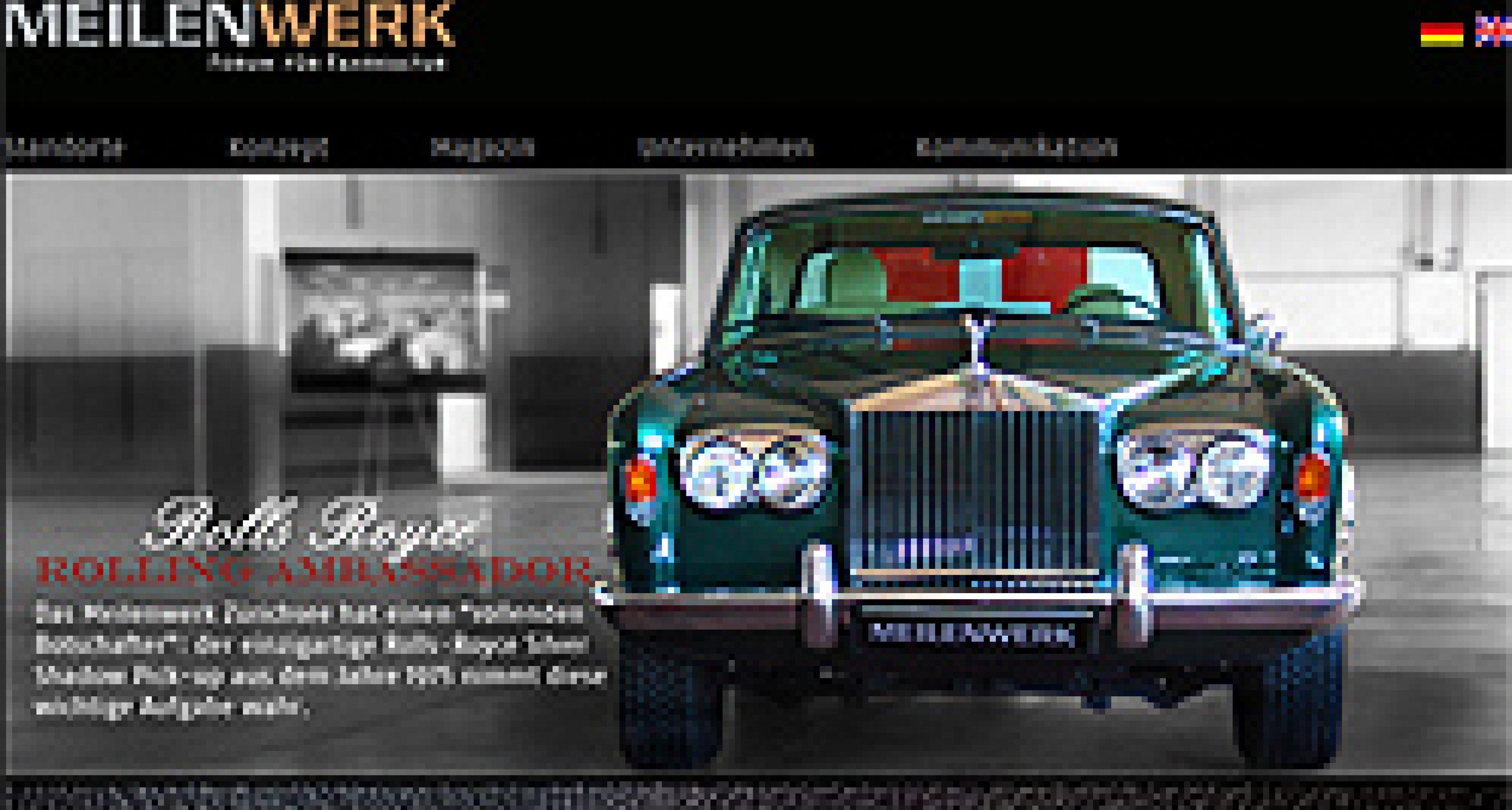 Classic Driver Marktplatz im neuen Webauftritt des Meilenwerks